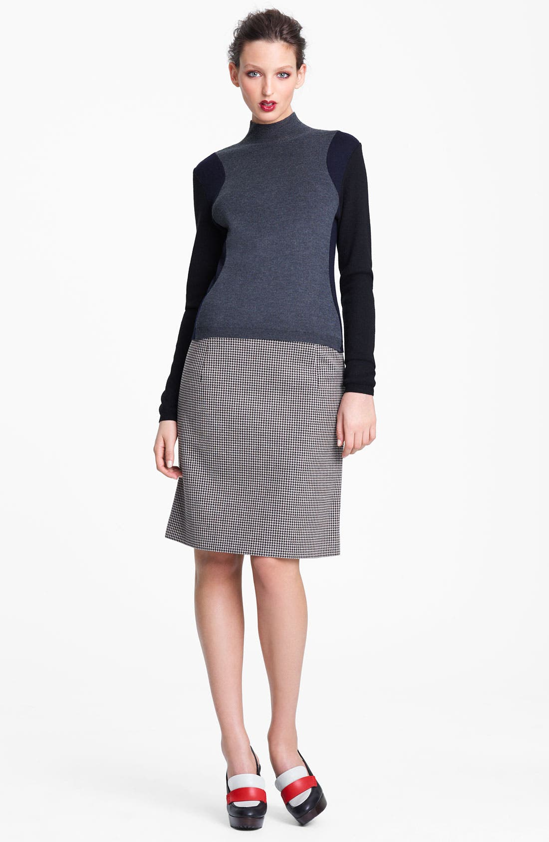 Alternate Image 1 Selected - Marni Edition Houndstooth Pencil Skirt