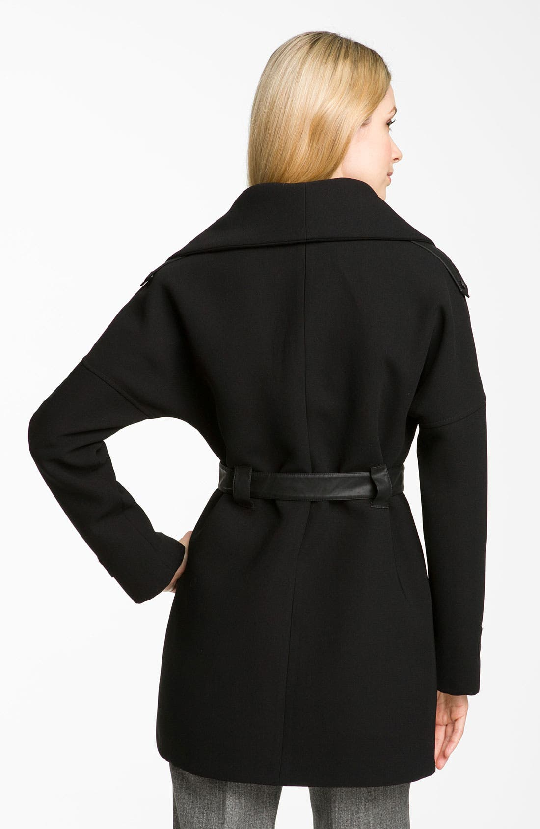 Alternate Image 2  - 1 Madison Wing Collar Belted Coat