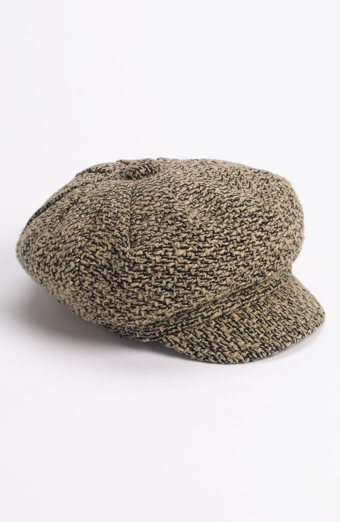Alternate Image 1 Selected - Halogen® 'Tweed Tuck' Newsboy Cap