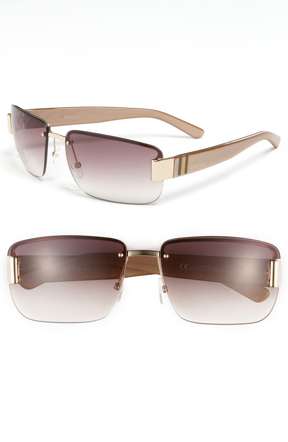 Main Image - Gucci 61mm Rimless Sunglasses