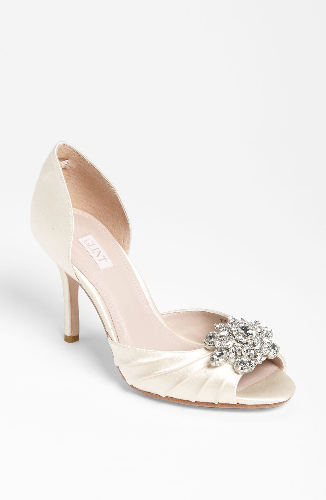 Alternate Image 1 Selected - GLINT RADIANCE ORNAMENT PEEP TOE PUMP