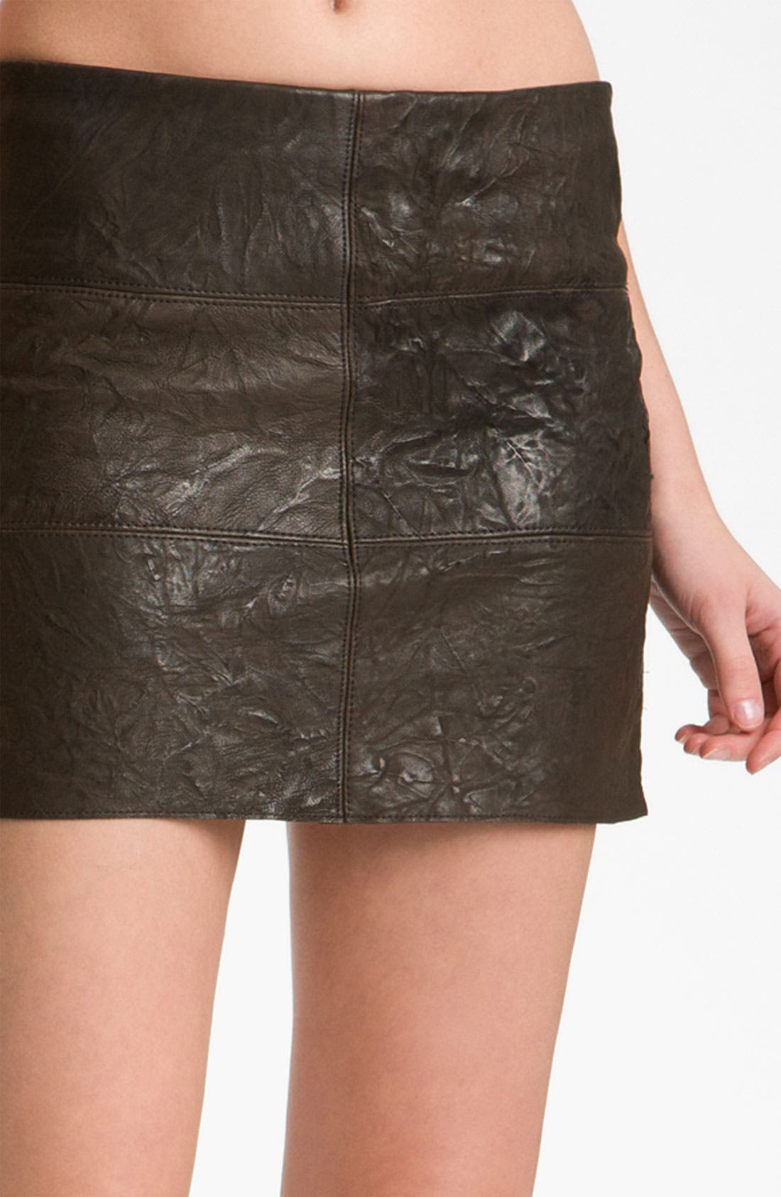 Alternate Image 3  - Bailey 44 'Brevity Is the Soul' Patchwork Leather Miniskirt