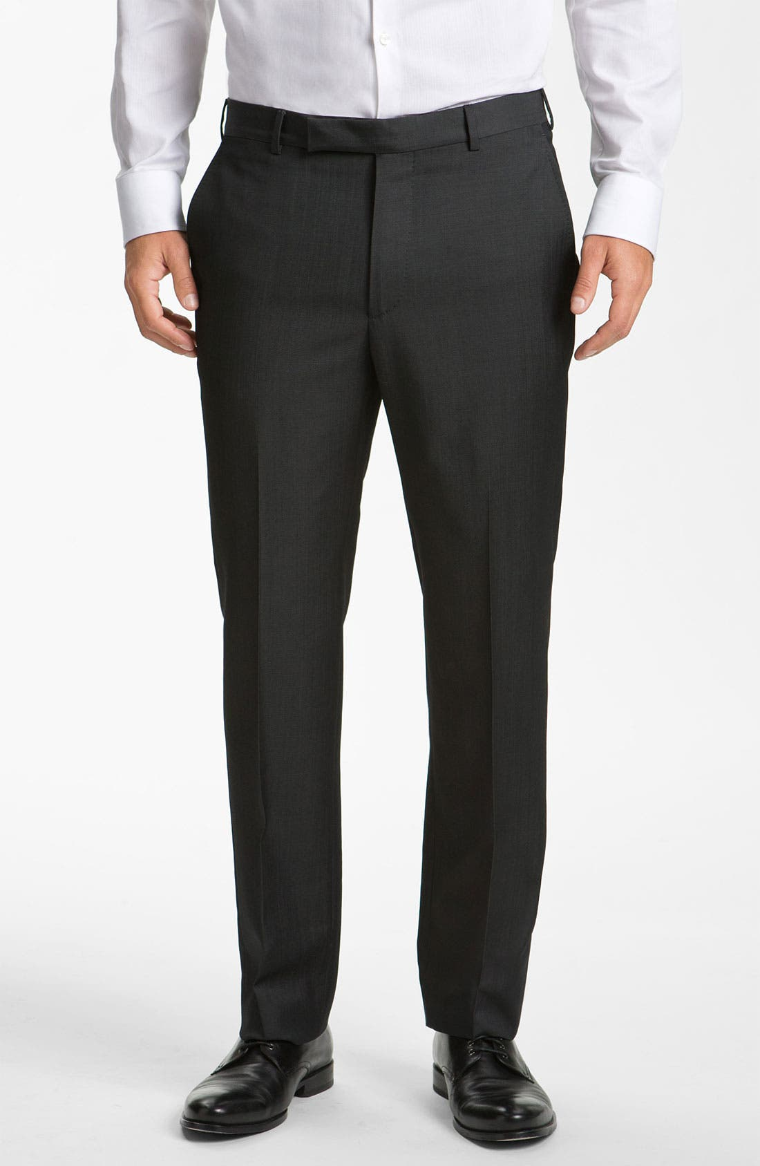 Z Zegna Flat Front Trousers