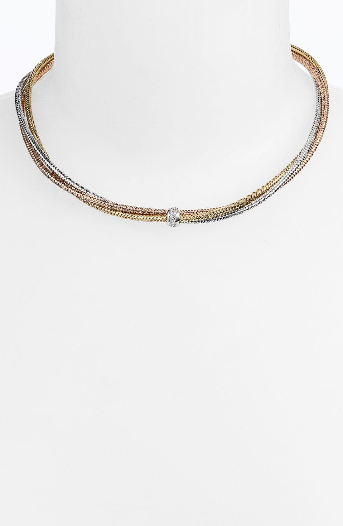 Alternate Image 1 Selected - Roberto Coin 'Mini Primavera' Triple Strand Diamond Necklace