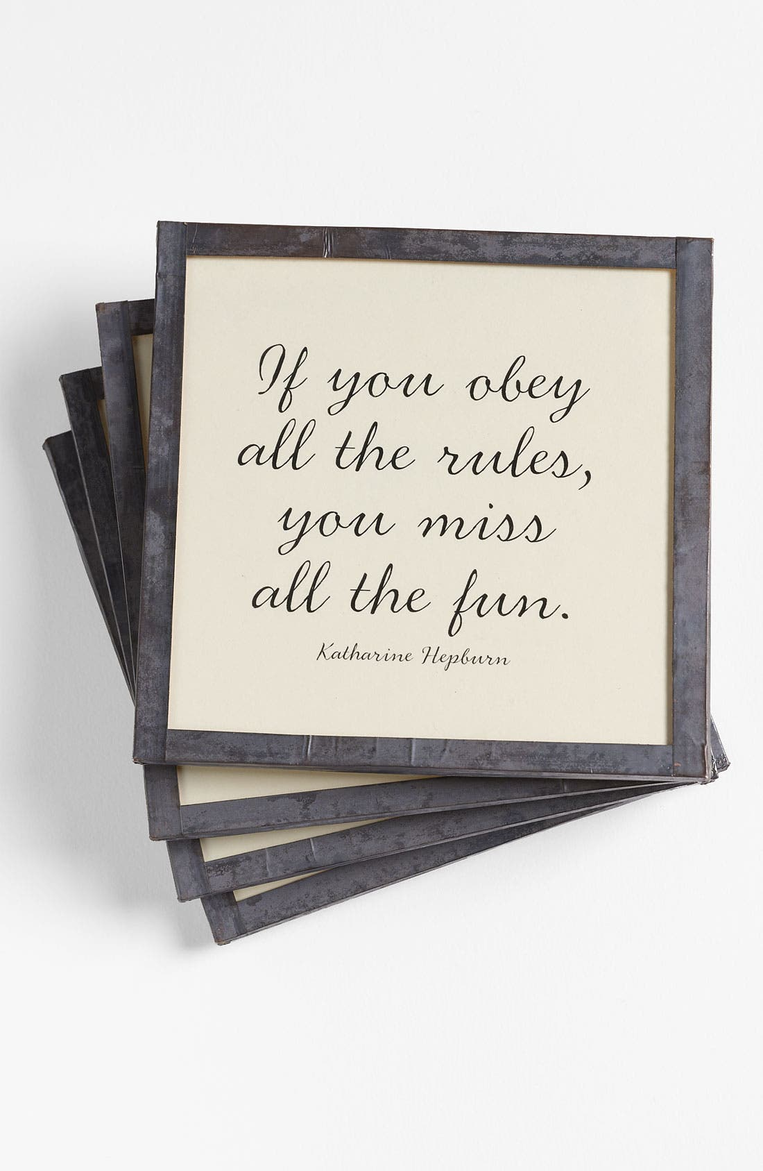 Alternate Image 1 Selected - Ben's Garden 'If You Obey All the Rules' Coasters (Set of 4)