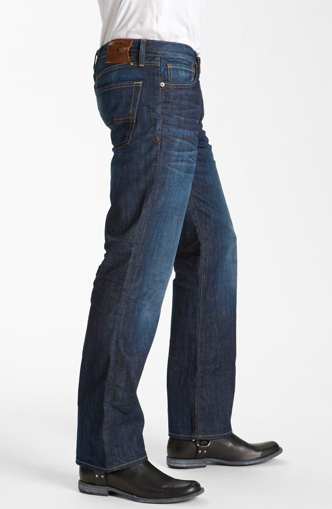 Alternate Image 3  - Lucky Brand '361 Vintage' Straight Leg Jeans (Dark Creek)