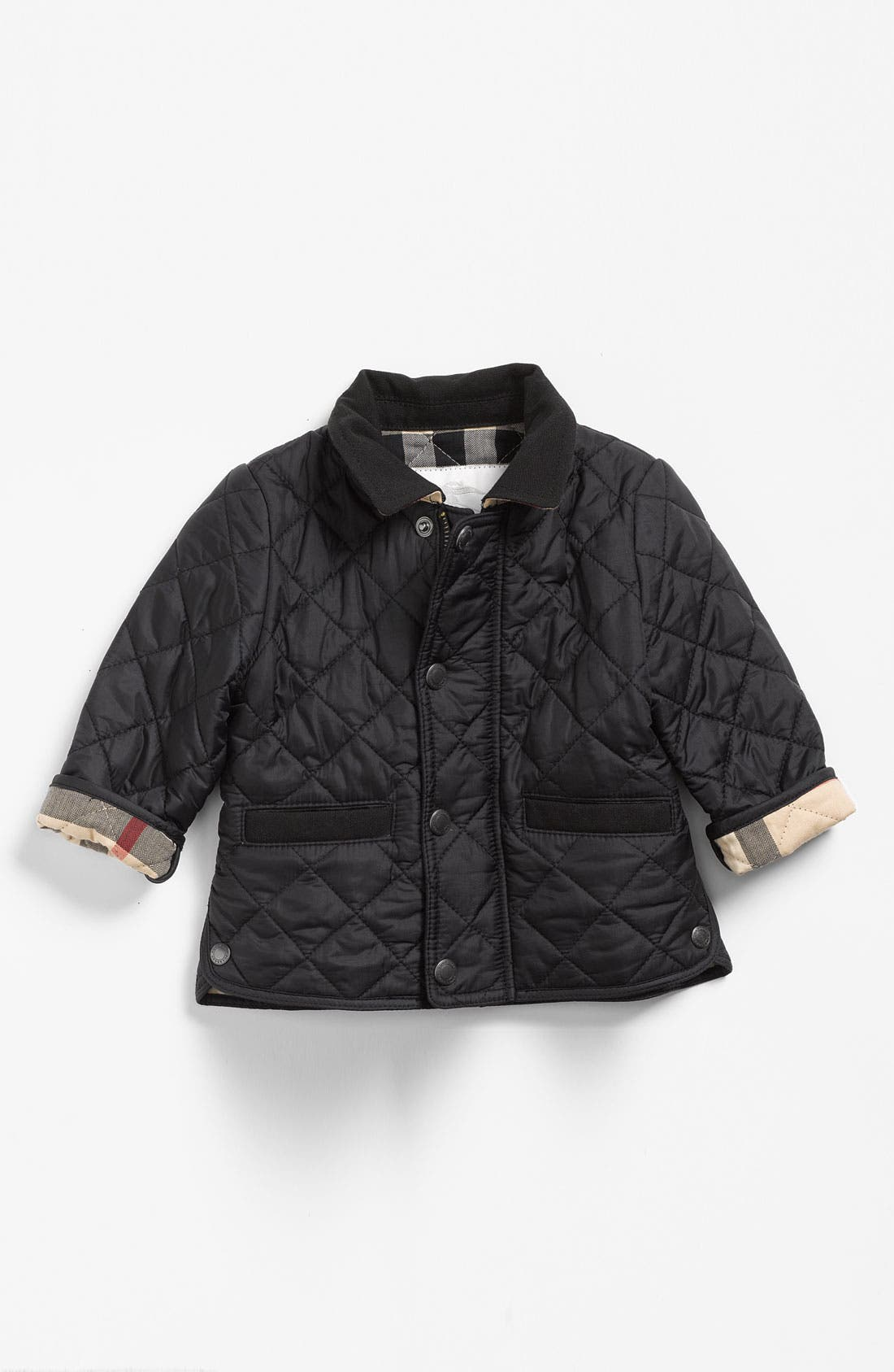 Main Image - Burberry Quilted Jacket (Infant)