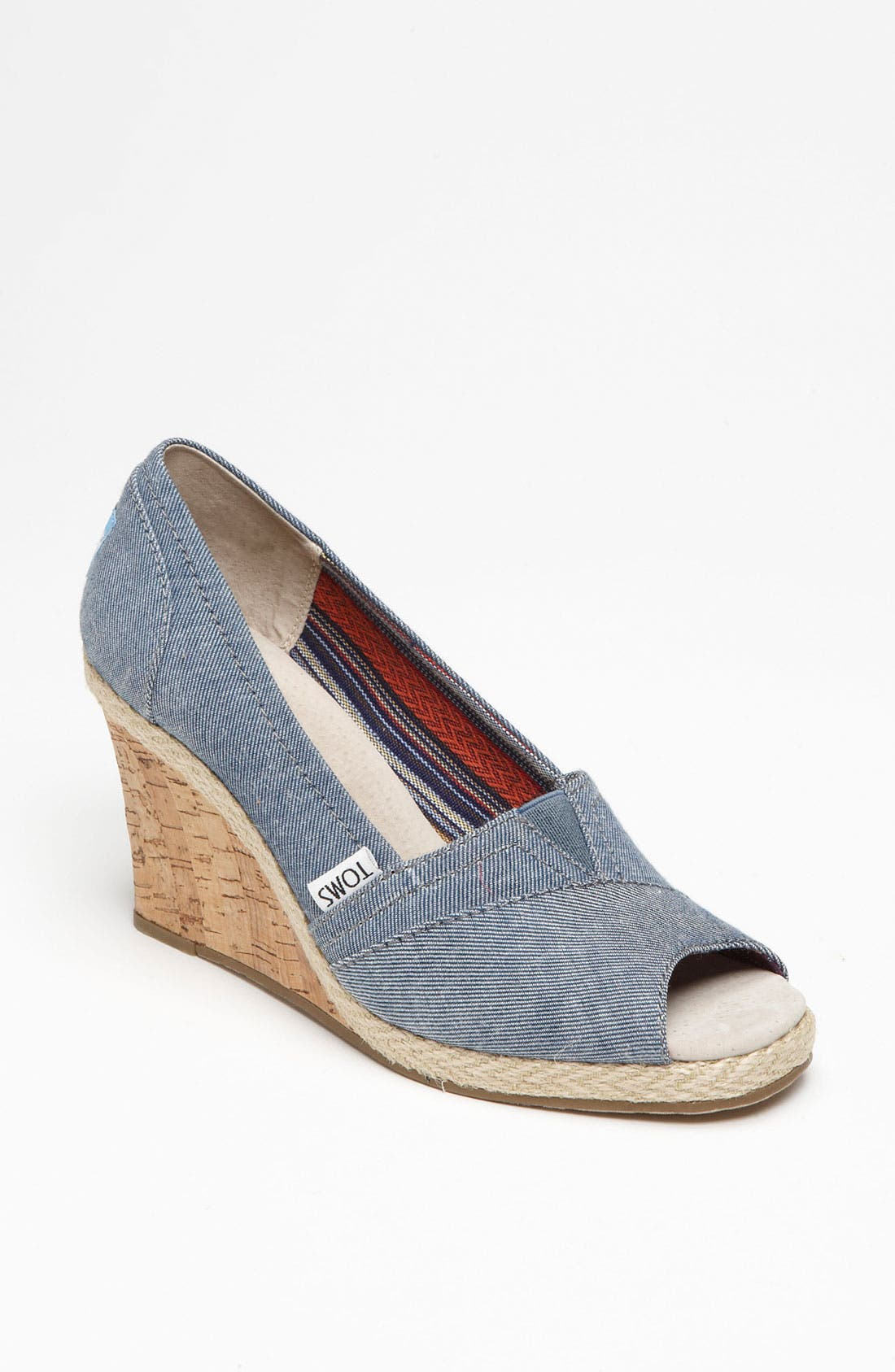 Main Image - TOMS 'Seren' Chambray Wedge (Women)