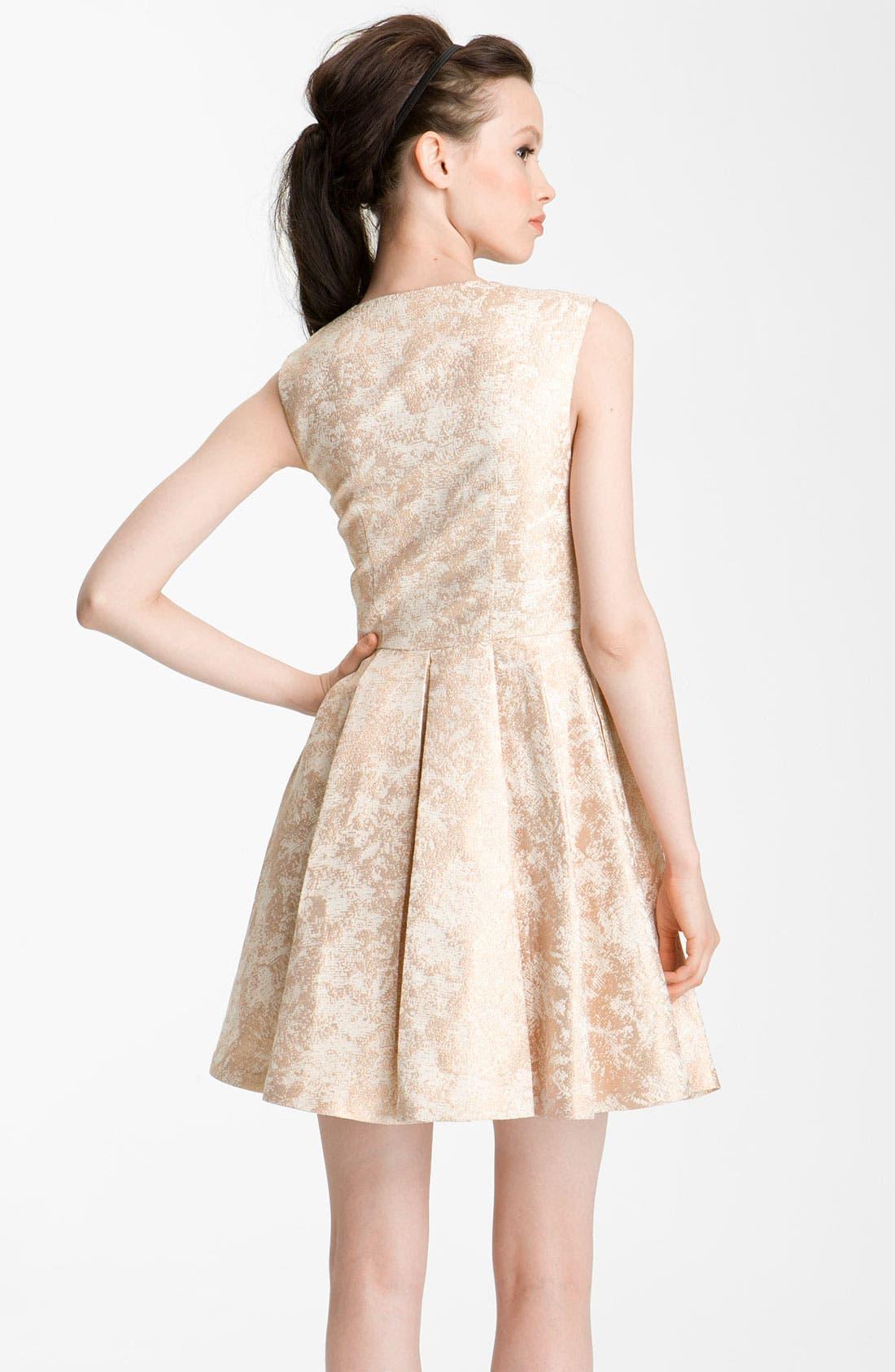 Alternate Image 2  - Rachel Zoe 'Daria' Metallic Brocade Dress