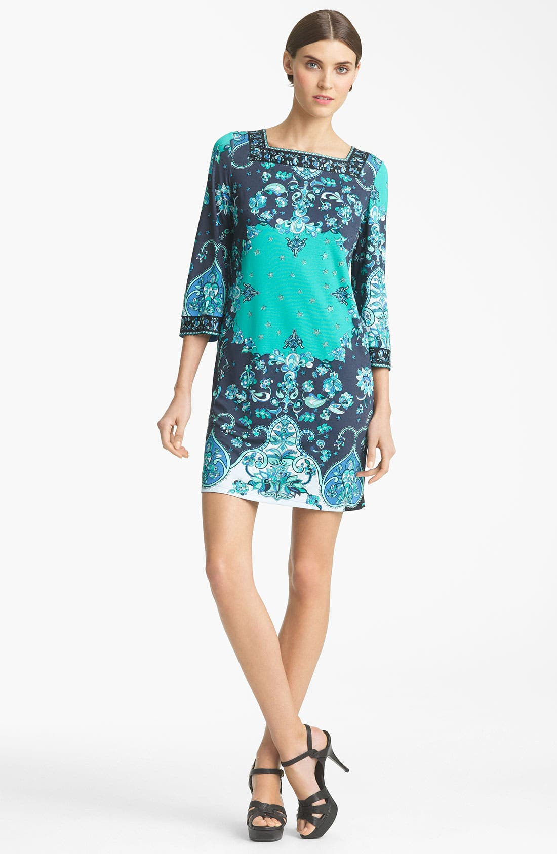 Alternate Image 1 Selected - Emilio Pucci Print Jersey Shift Dress