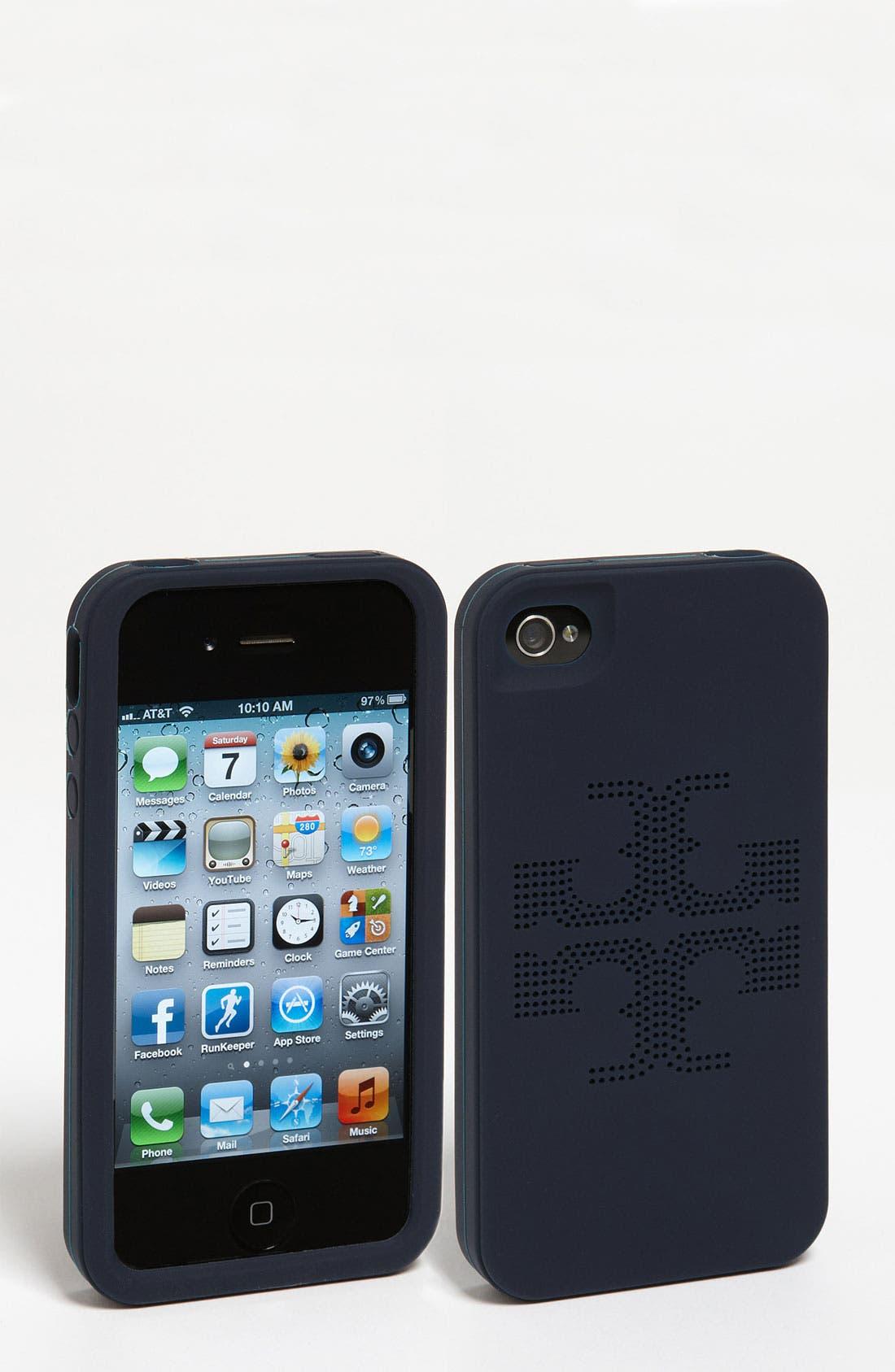 Main Image - Tory Burch 'Kipp' Perforated iPhone 4 & 4S Case