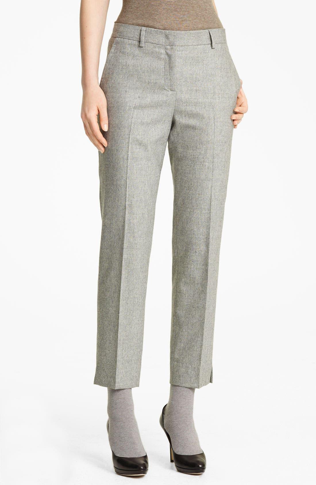 Alternate Image 1 Selected - Fabiana Filippi Crop Flannel Pants
