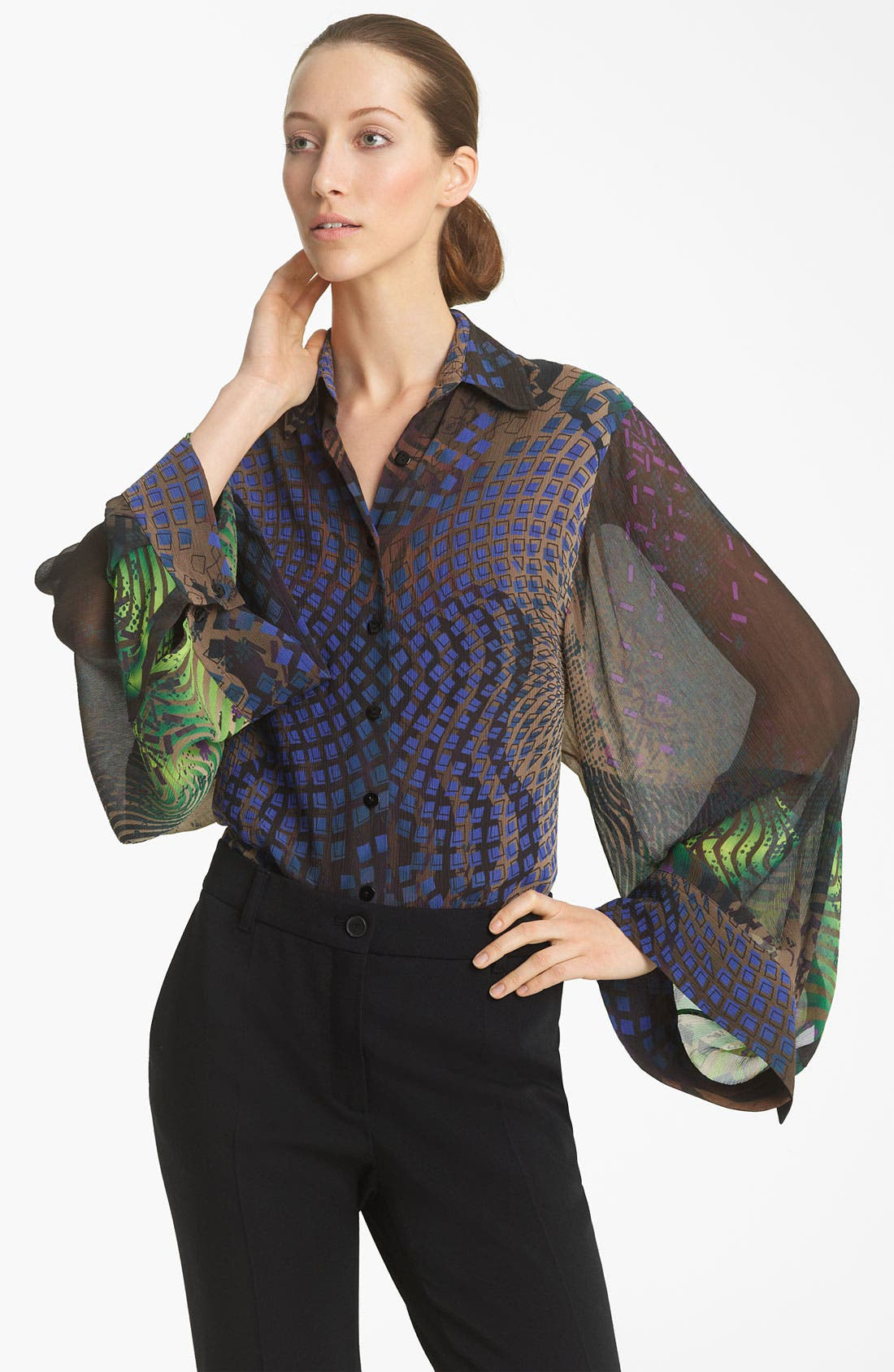 Alternate Image 1 Selected - Jean Paul Gaultier Silk Blouse