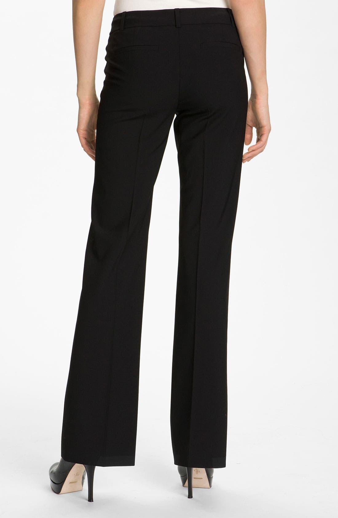 Alternate Image 2  - Classiques Entier® Flare Leg Stretch Wool Pants