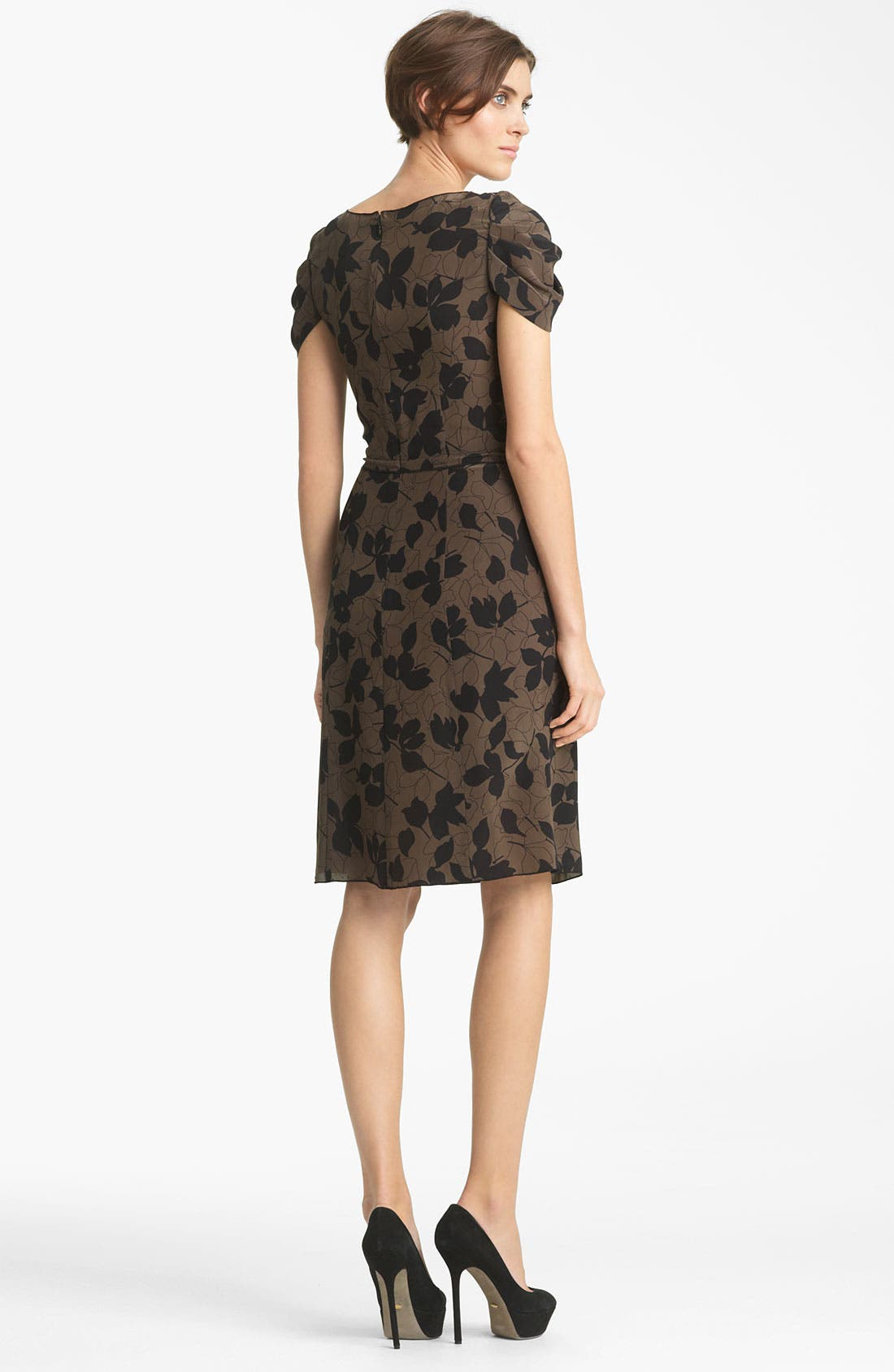 Alternate Image 2  - Nina Ricci 'Camo Fleur' Print Silk Crepe Dress