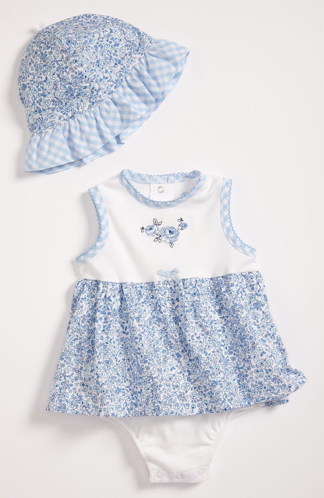 Alternate Image 1 Selected - Little Me 'Blue Belle' Bodysuit & Hat (Infant)