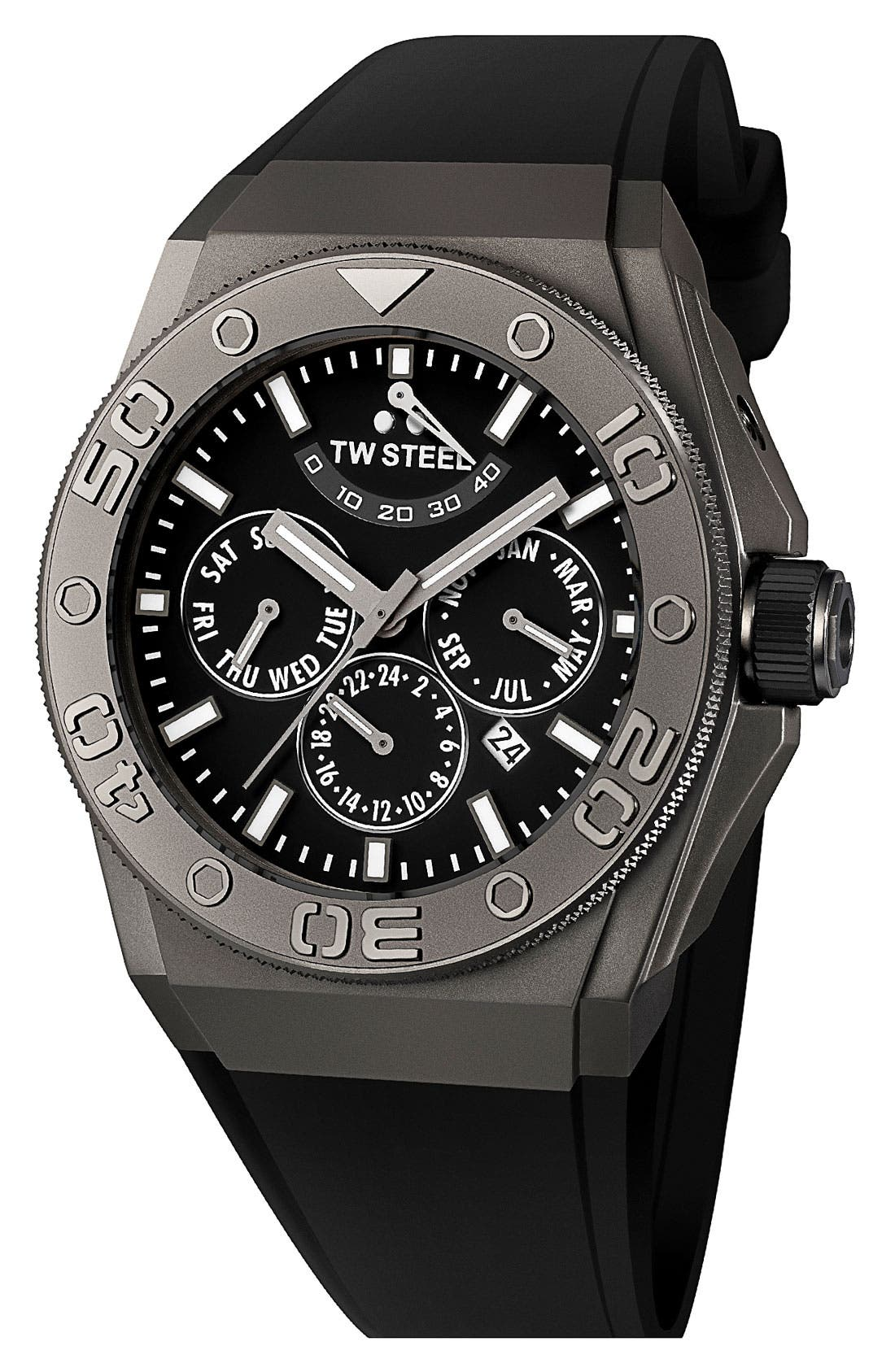 Alternate Image 1 Selected - TW Steel 'CEO Diver' Automatic Rubber Strap Watch