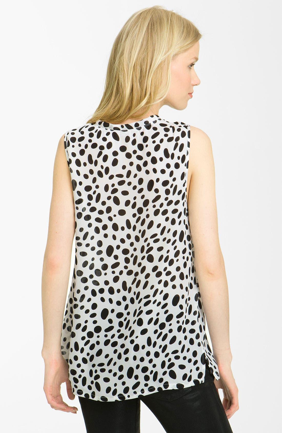 Alternate Image 2  - L'AGENCE Dalmatian Print Georgette Blouse