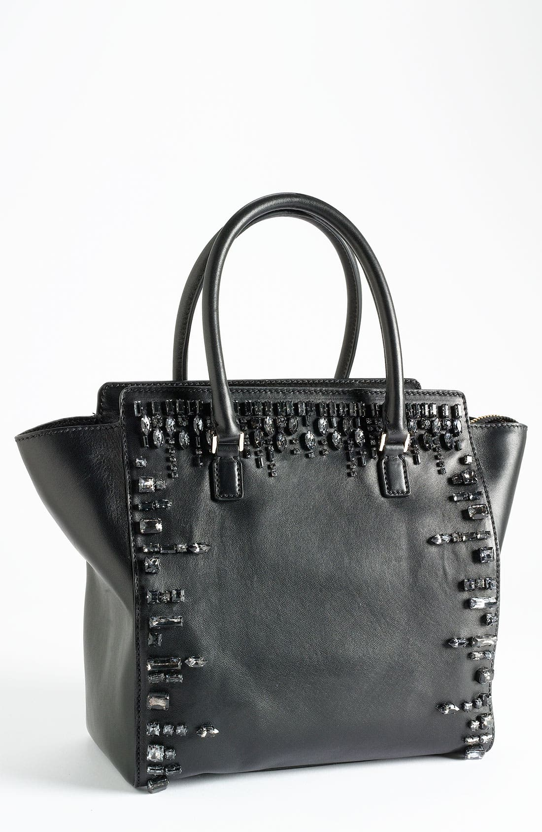 Main Image - Valentino 'Crystal' Leather Shopper Tote