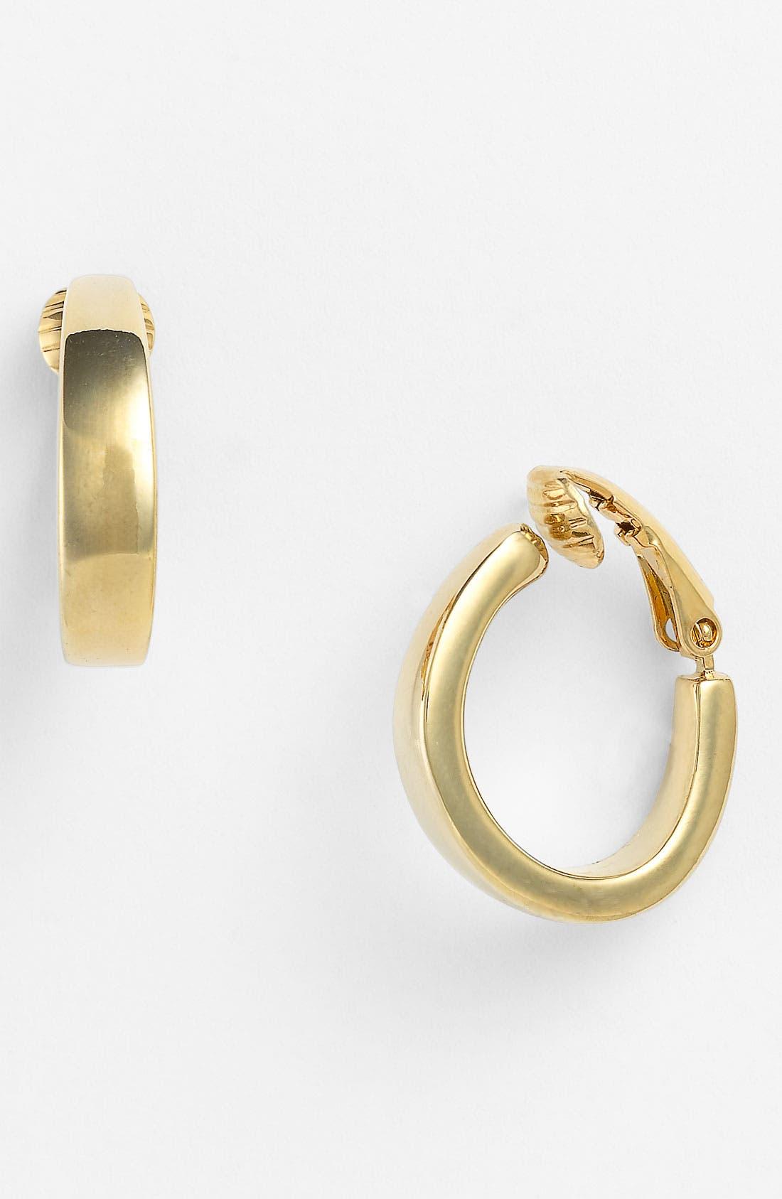 Alternate Image 1 Selected - Anne Klein J-Hoop Clip Earrings