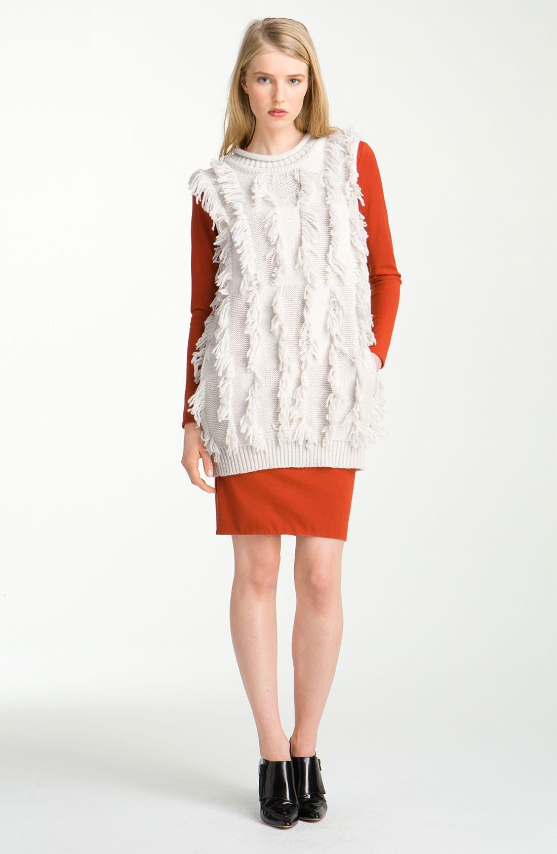 Alternate Image 1 Selected - 3.1 Phillip Lim Fringe Intarsia Tunic Sweater