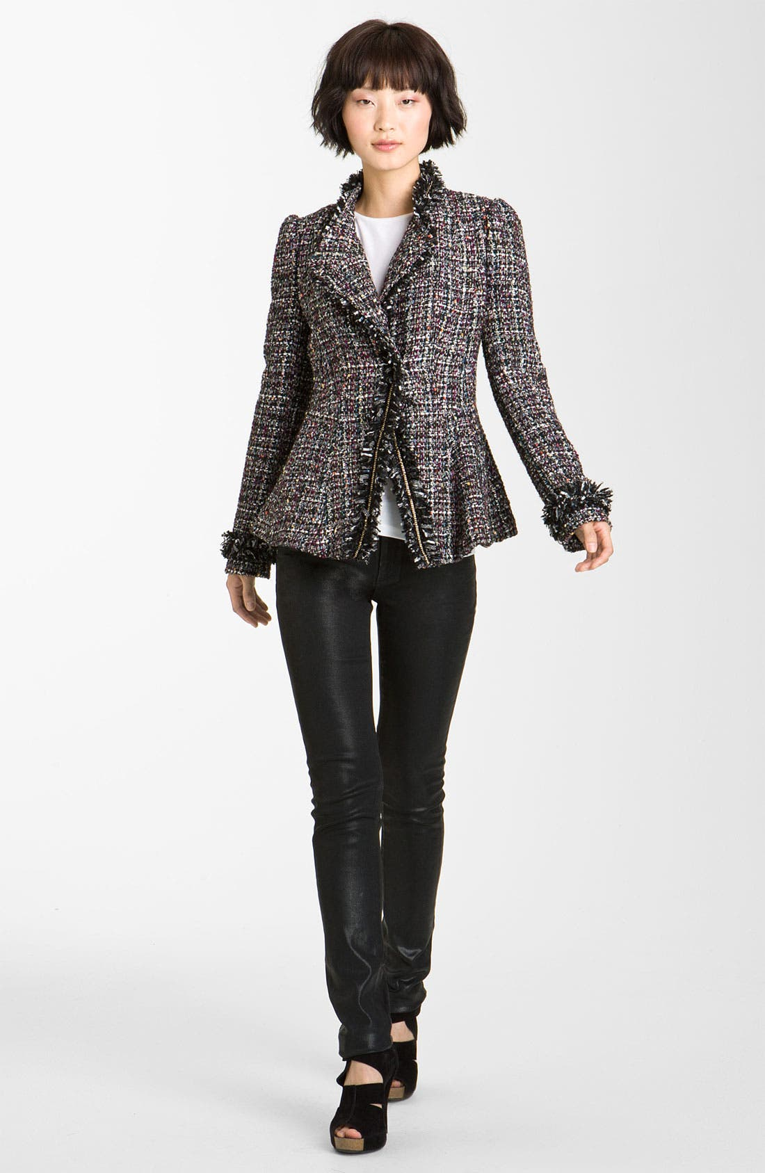 Alternate Image 1 Selected - Mcginn Asymmetrical Metallic Tweed Jacket