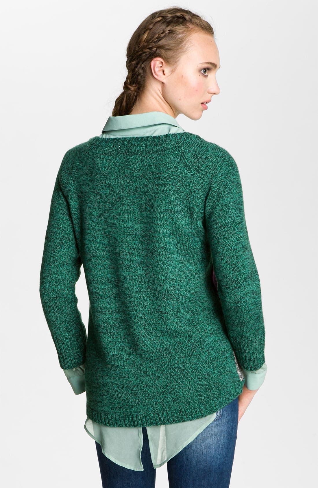 Alternate Image 2  - Love By Design Geometric Sweater (Juniors)