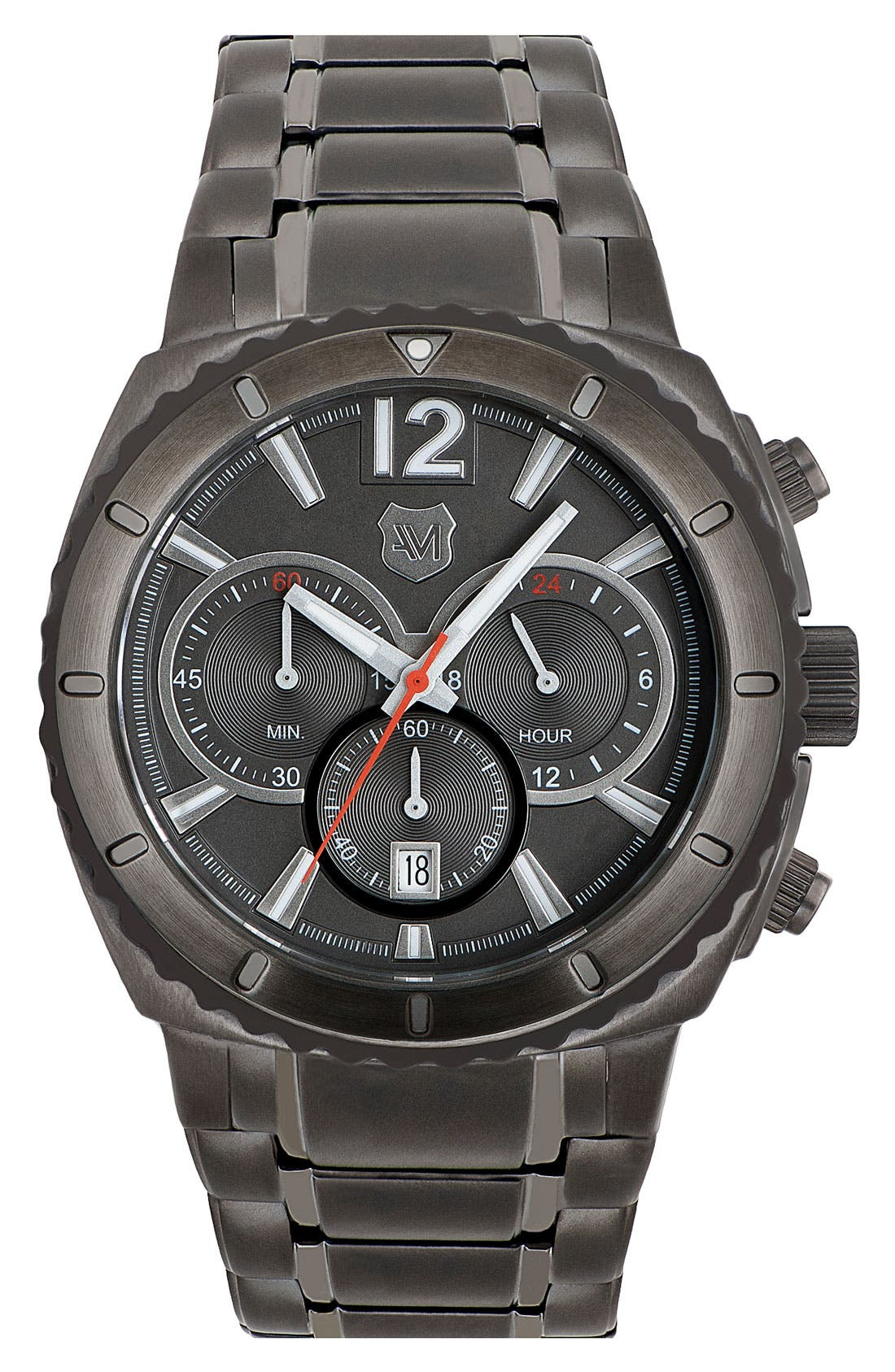 Alternate Image 1 Selected - Andrew Marc Watches 'Heritage Scuba' Chronograph Bracelet Watch