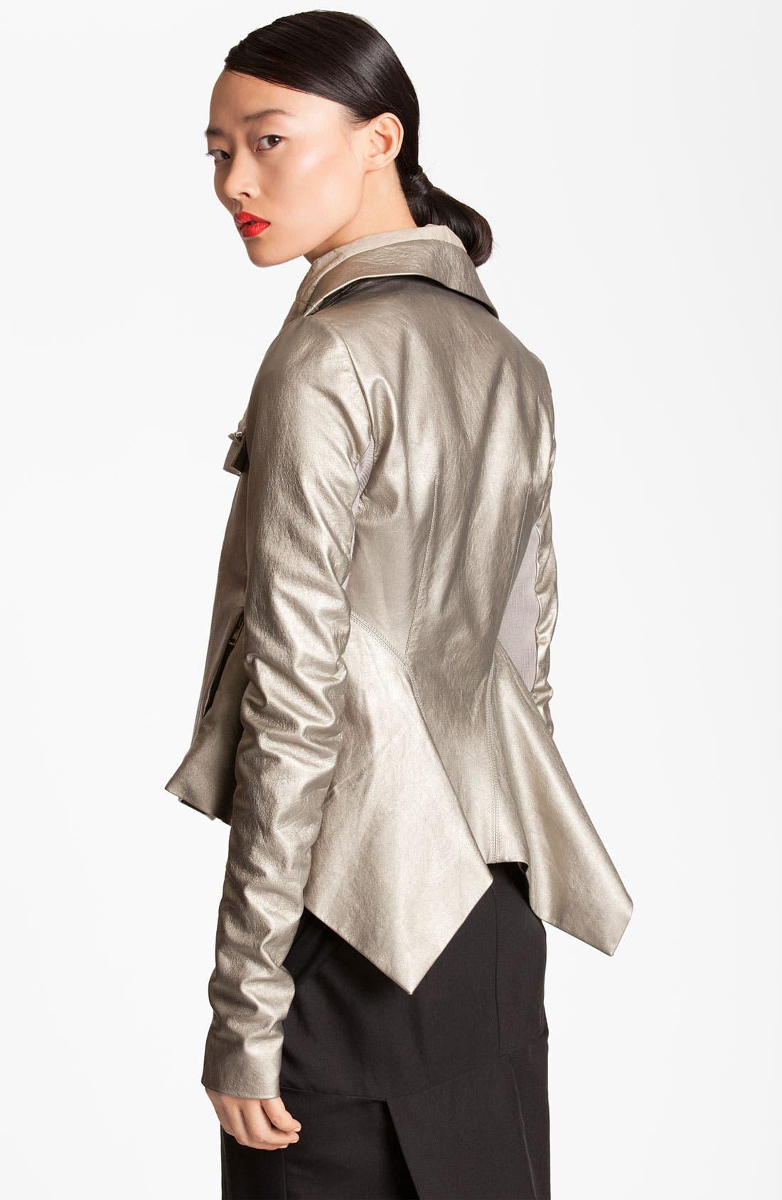 Alternate Image 2  - Rick Owens Metallic Leather Jacket