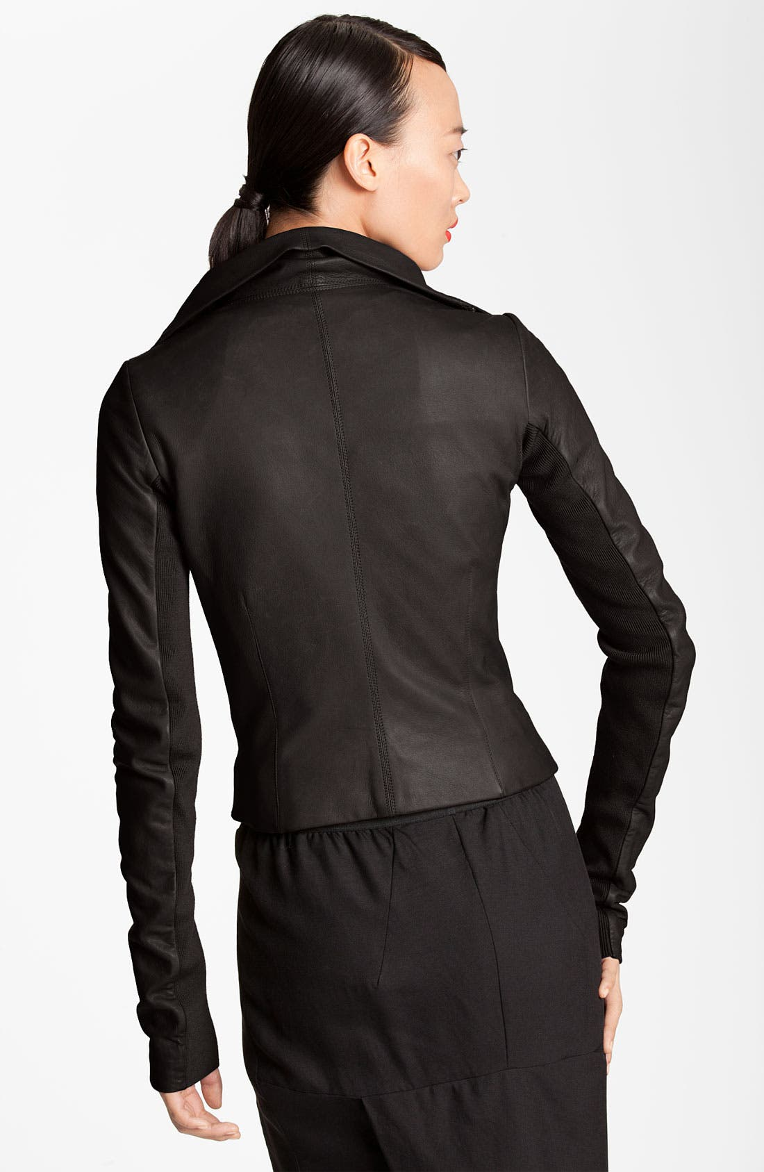Alternate Image 2  - Rick Owens Quilted Seam Leather Jacket