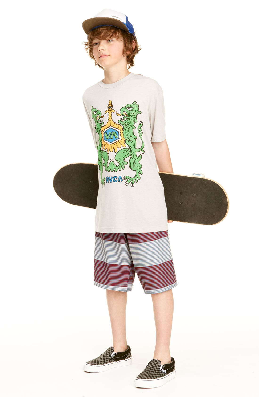 Alternate Image 2  - RVCA 'Civil Stripe' Board Shorts (Big Boys)