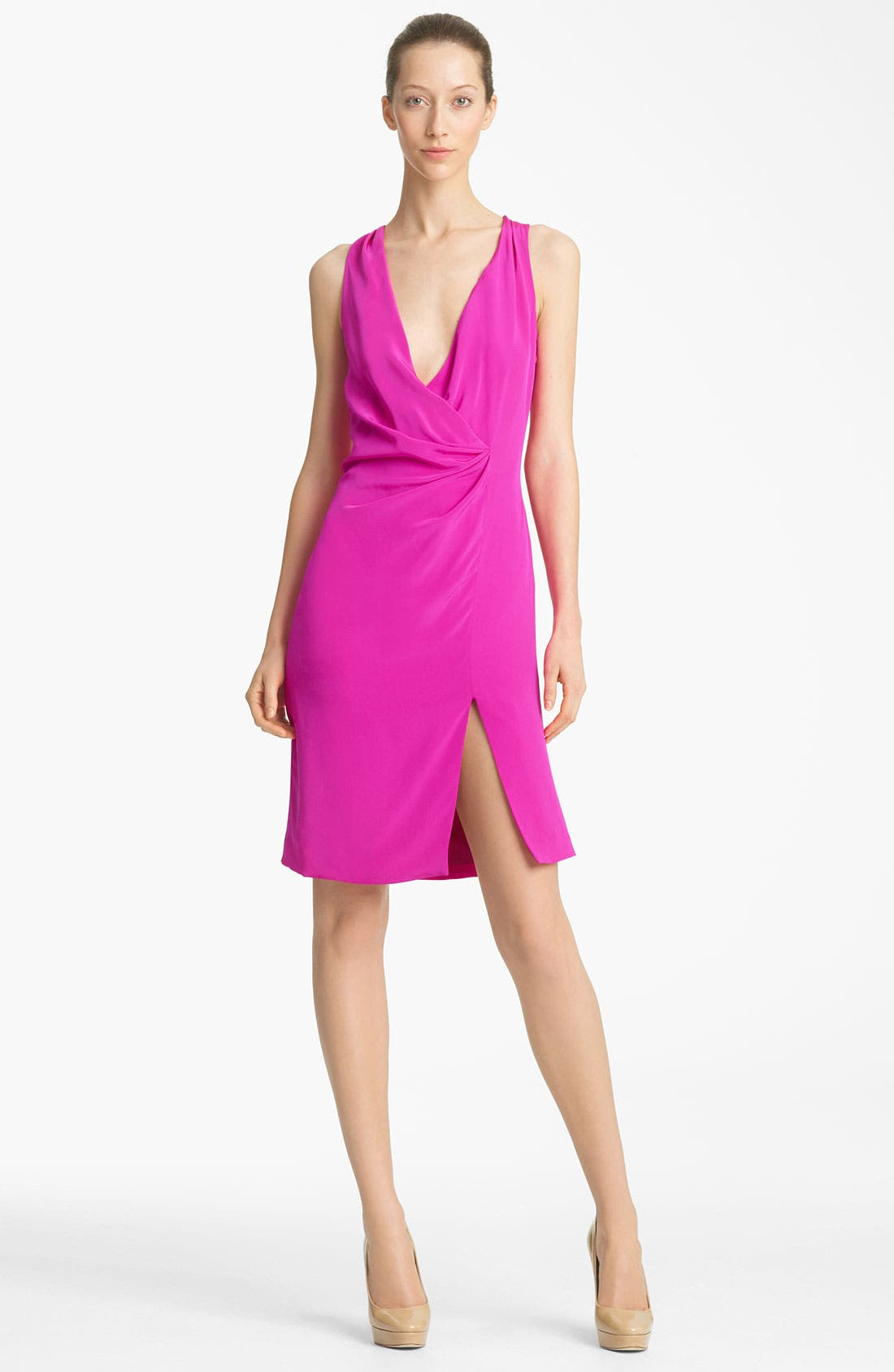 Alternate Image 1 Selected - Thakoon Faux Wrap Silk Dress