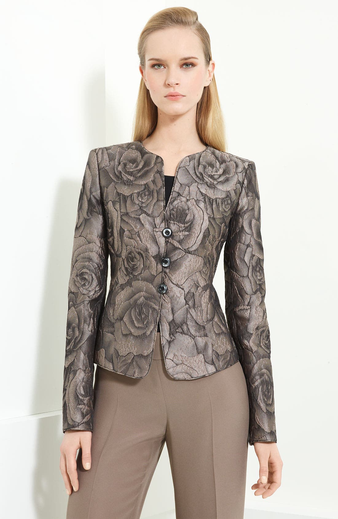 Alternate Image 1 Selected - Armani Collezioni Floral Jacquard Jacket