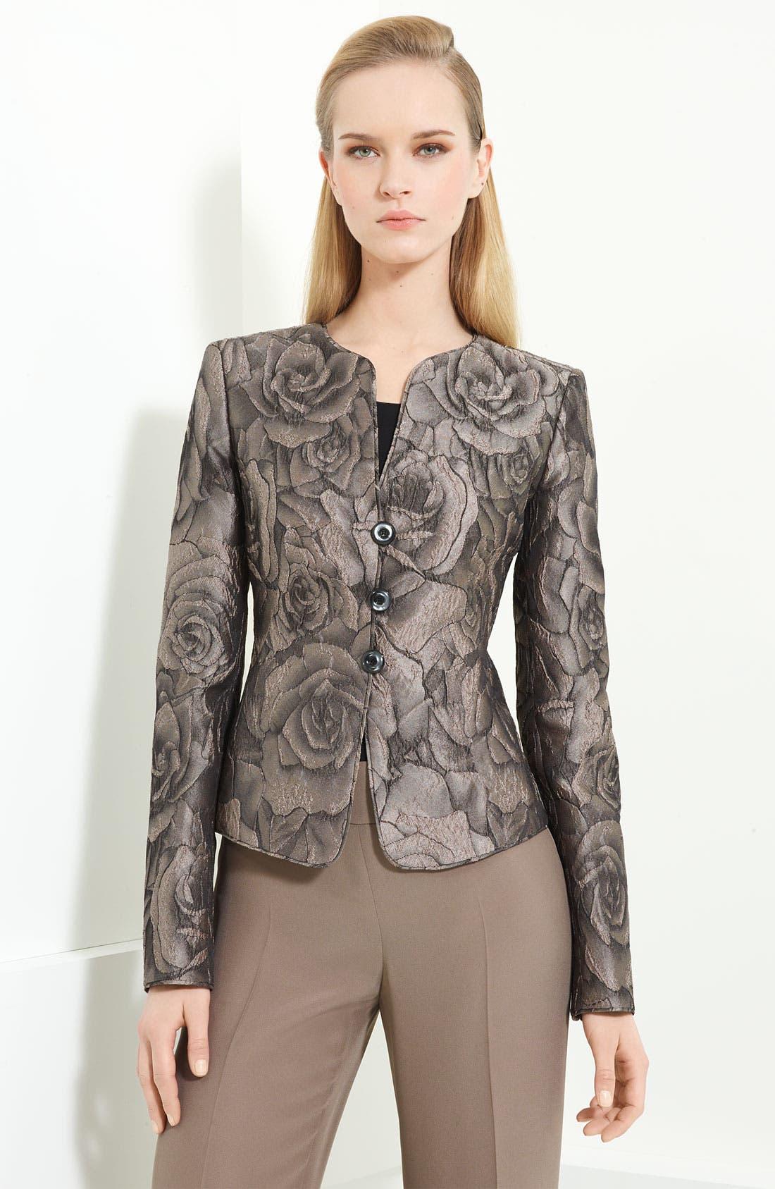 Main Image - Armani Collezioni Floral Jacquard Jacket