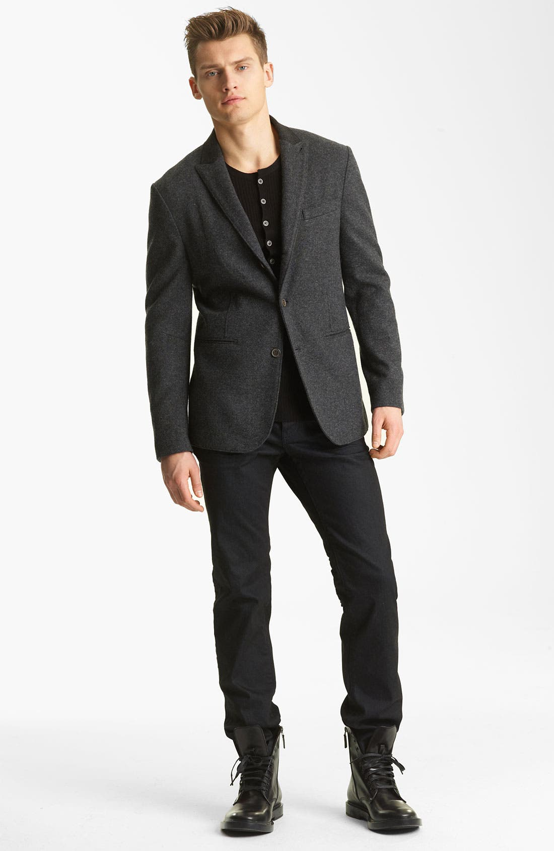 Alternate Image 4  - John Varvatos Collection Wool Knit Henley