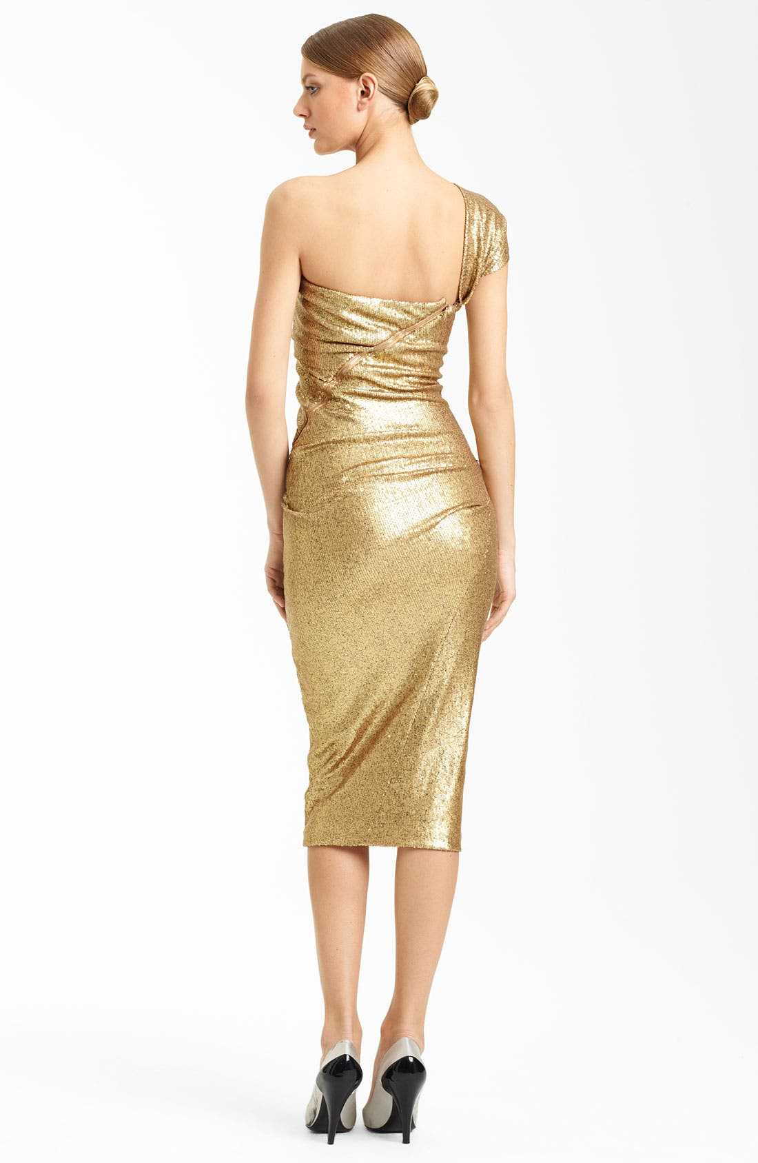 Alternate Image 2  - Donna Karan Collection One Shoulder Sequin Dress