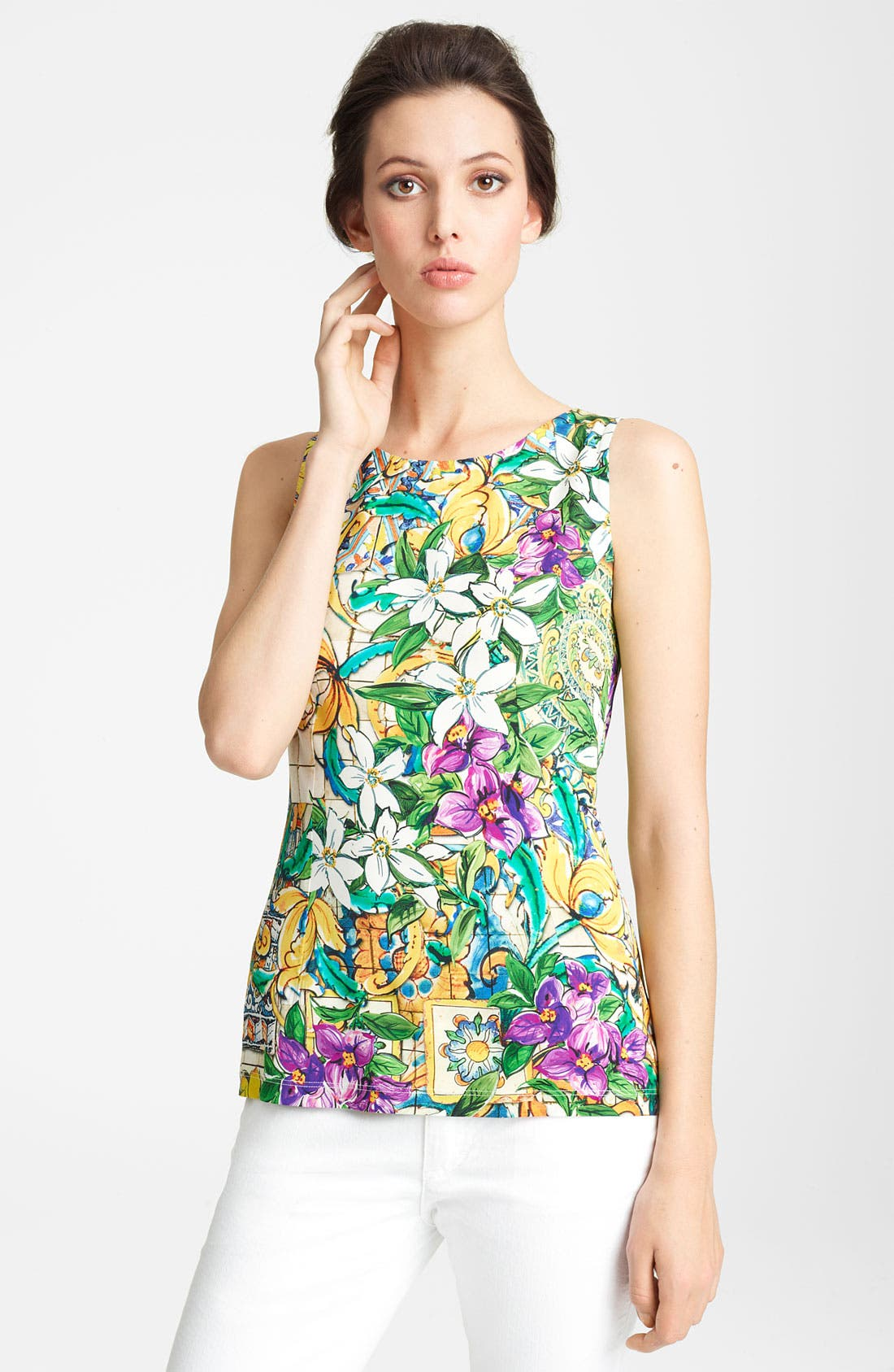 Alternate Image 1 Selected - Dolce&Gabbana Floral Print Shell