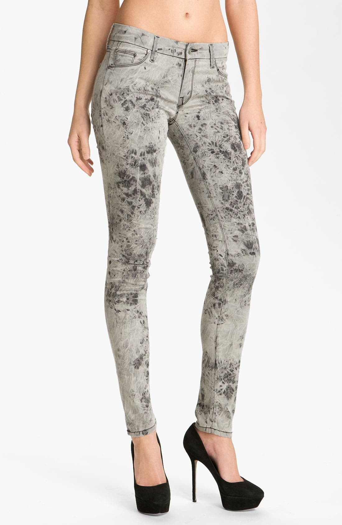 Main Image - MOTHER 'The Looker' Skinny Stretch Jeans (Rebel at Night)