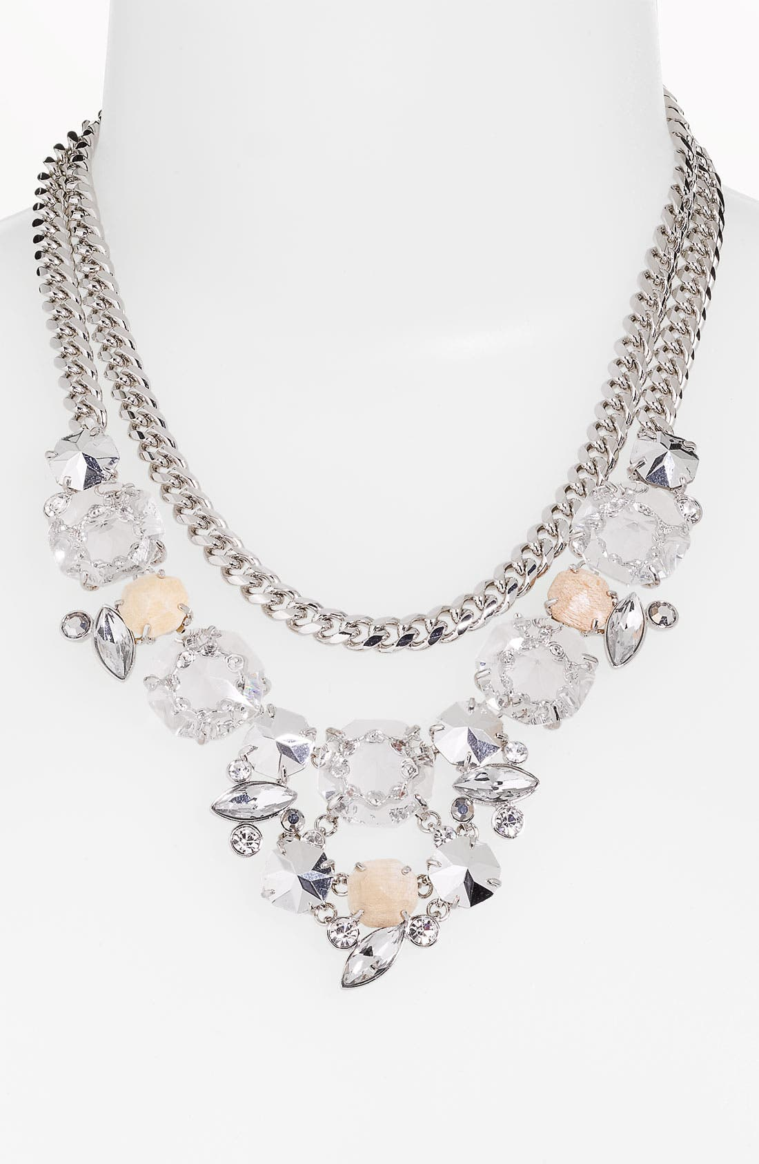 Alternate Image 1 Selected - Givenchy Two Row Bib Necklace
