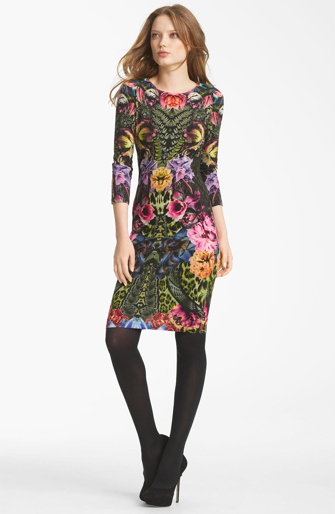 Main Image - Roberto Cavalli Flower Print Jersey Dress