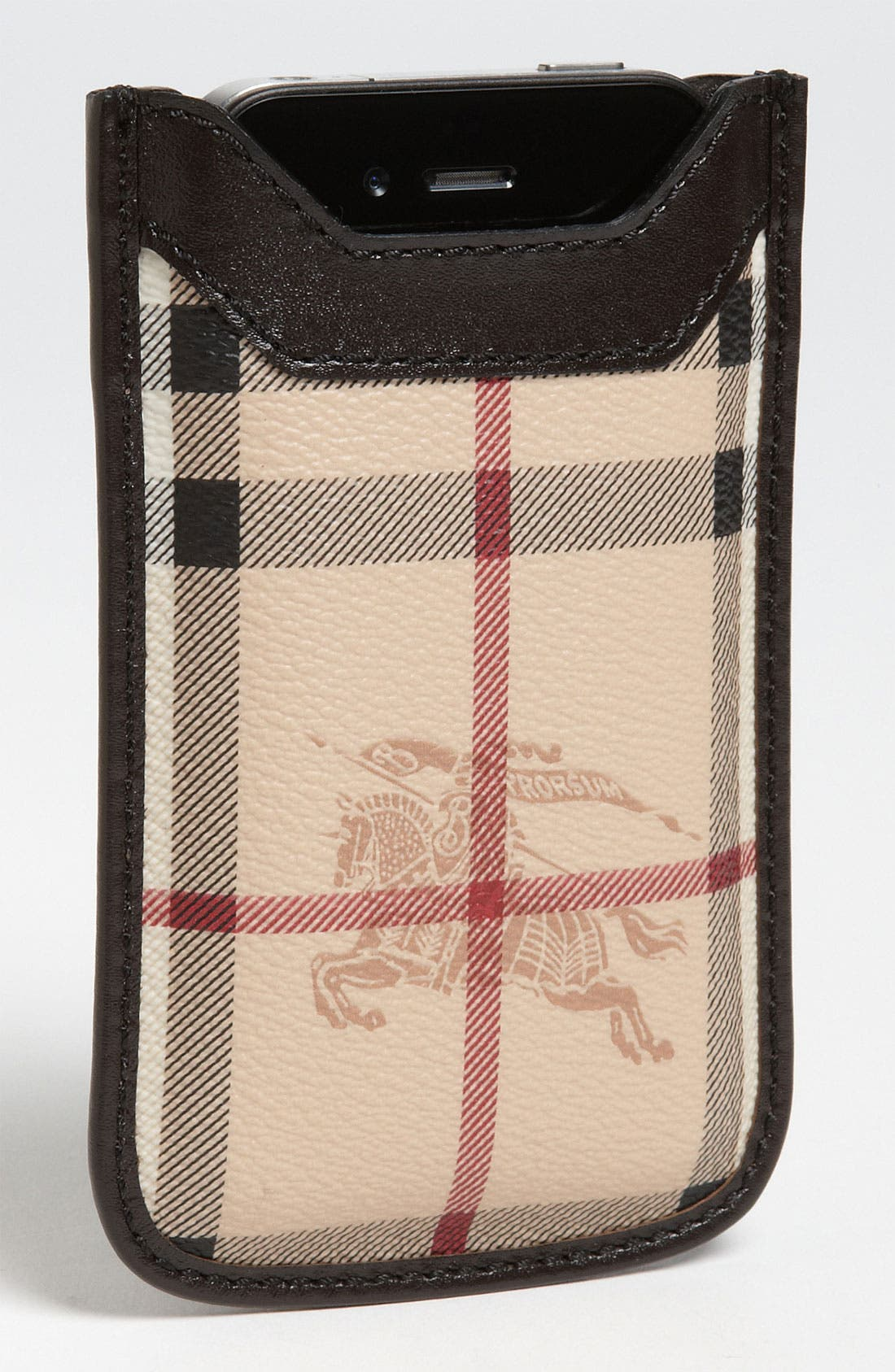 Alternate Image 1 Selected - Burberry 'Haymarket Check' iPhone Sleeve