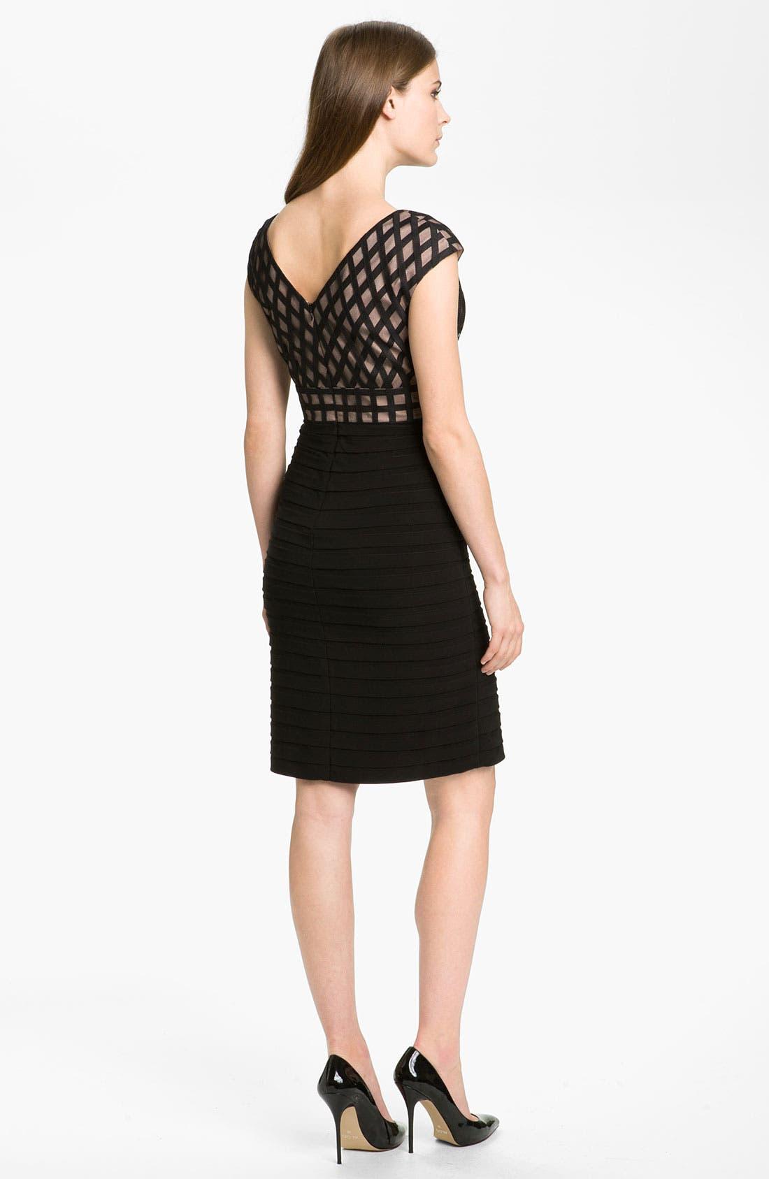 Alternate Image 2  - Adrianna Papell 'Net' Shutter Pleat Sheath Dress