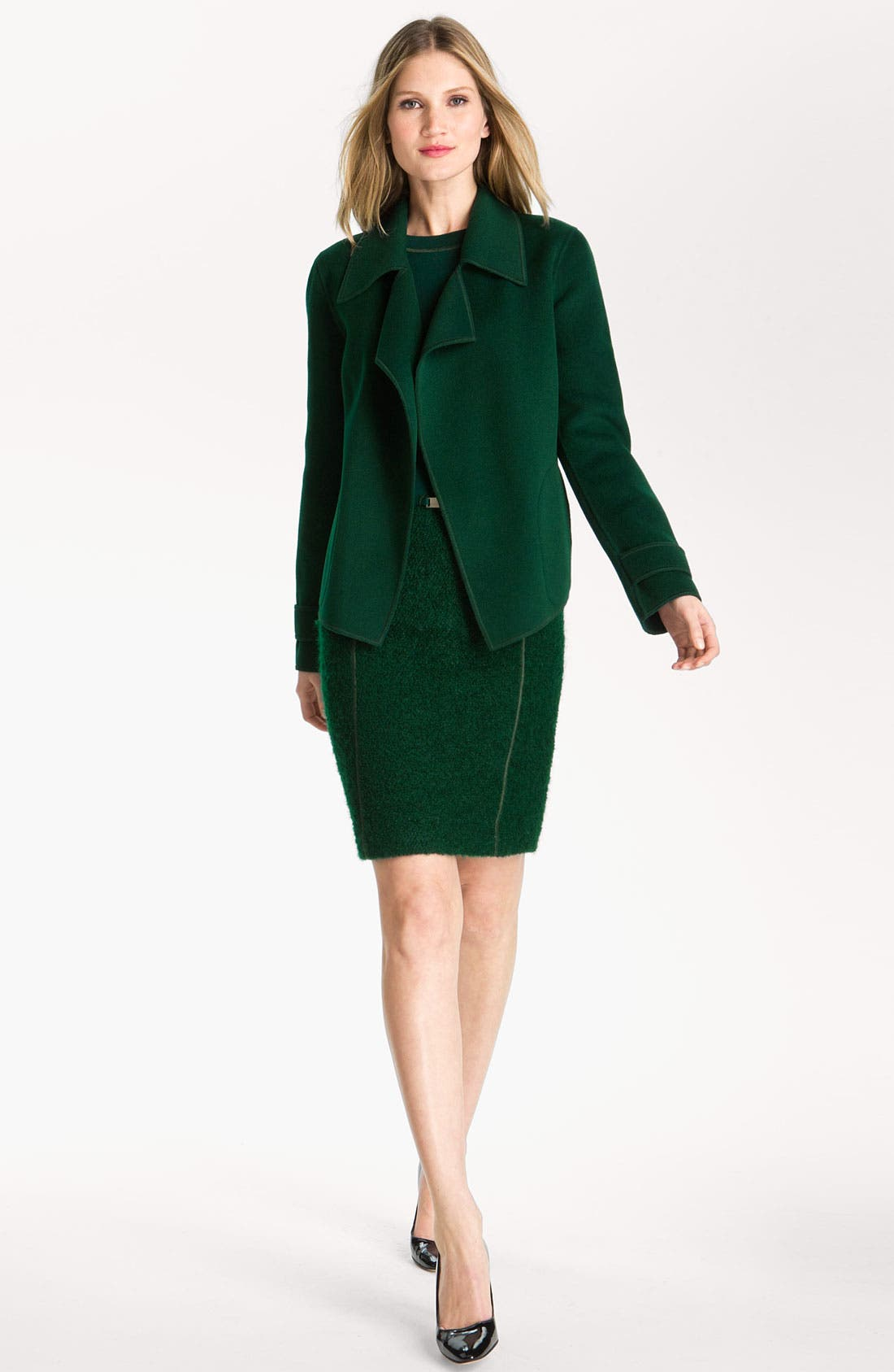Alternate Image 2  - St. John Collection Milano Knit & Boucle Dress