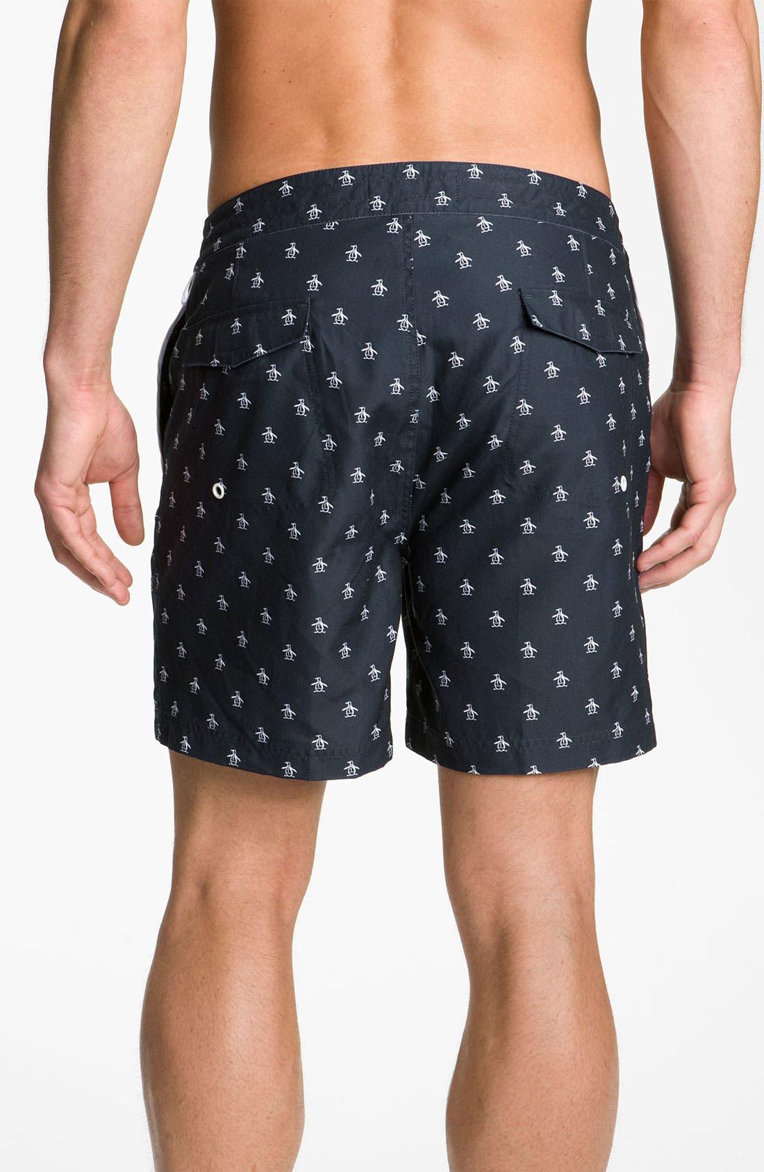Alternate Image 2  - Original Penguin Print Swim Shorts