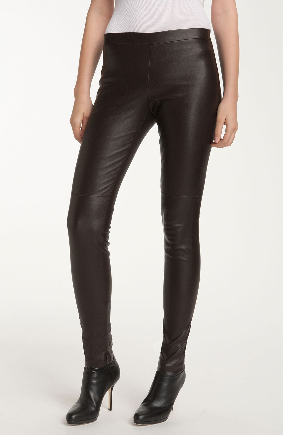 Alternate Image 1 Selected - Vince Ankle Zip Leather Legging