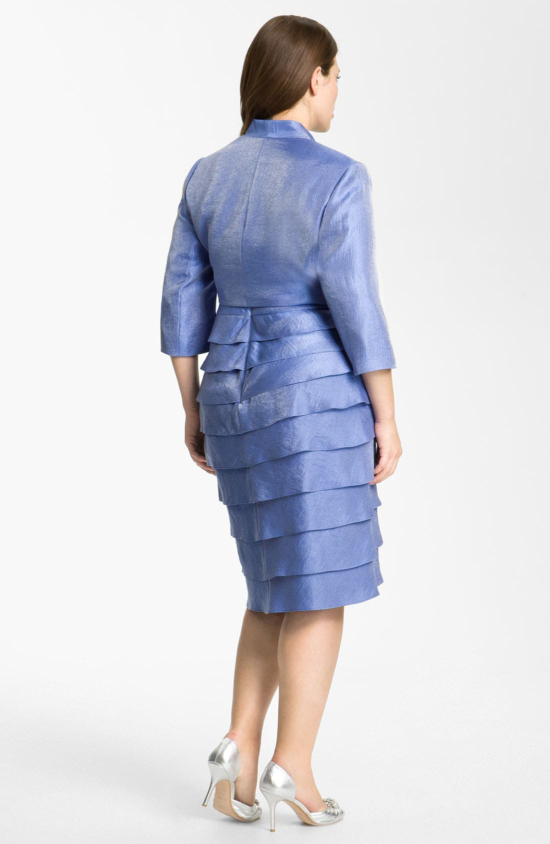 Alternate Image 2  - Adrianna Papell Evening Shutter Pleat Dress with Bolero Jacket (Plus)