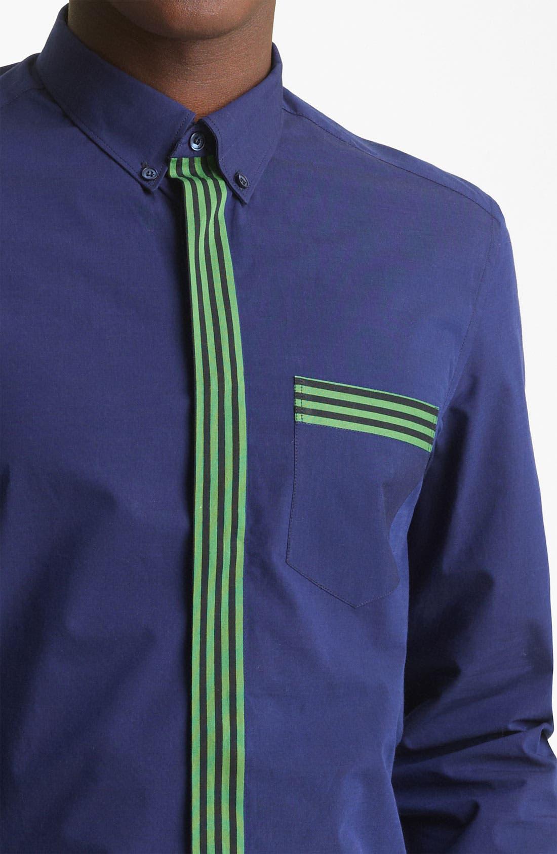 Alternate Image 3  - KENZO Stripe Trim Dress Shirt
