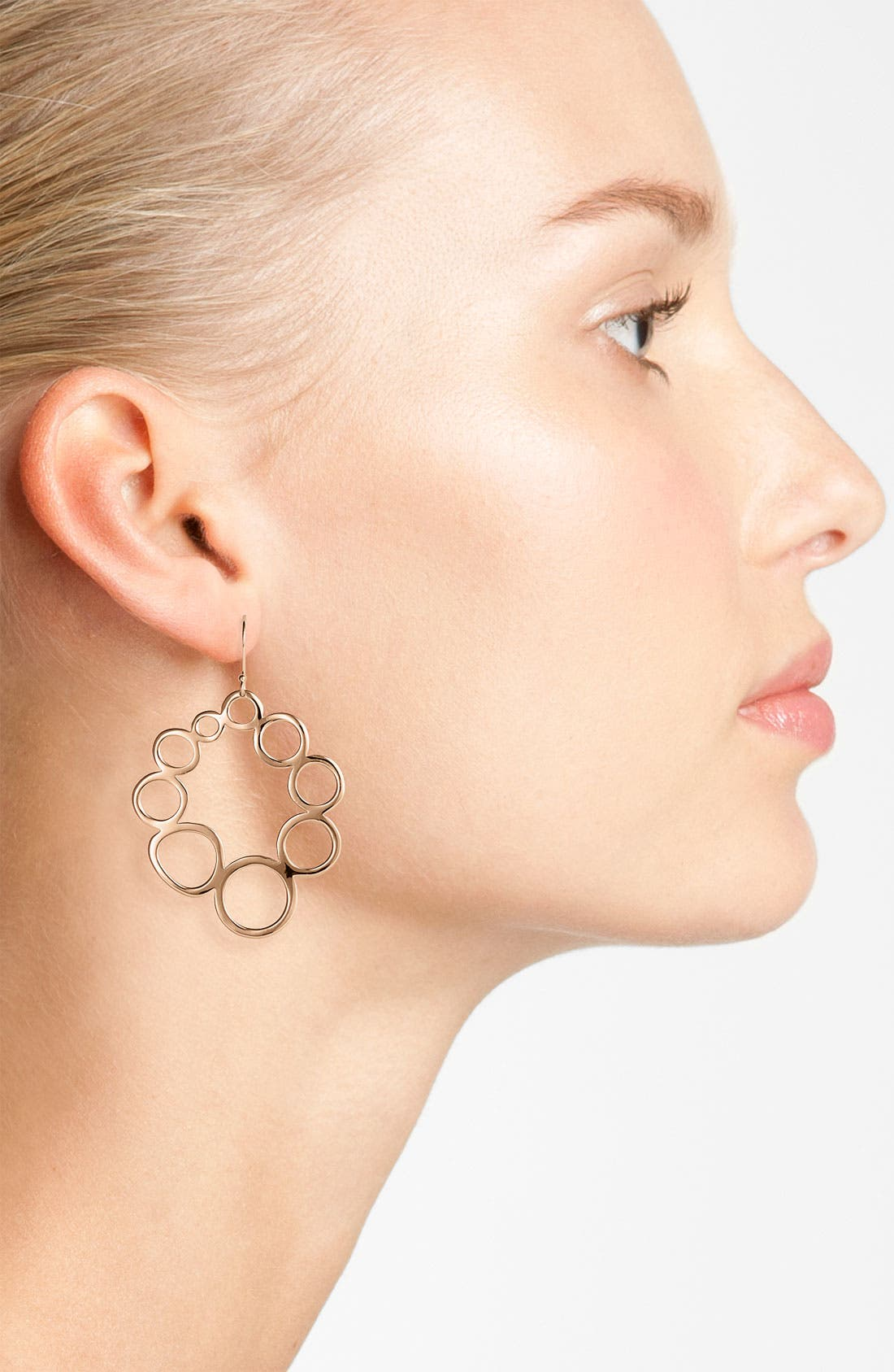 Alternate Image 2  - Ippolita 'Digital Lace' Rosé Open Circle Drop Earrings