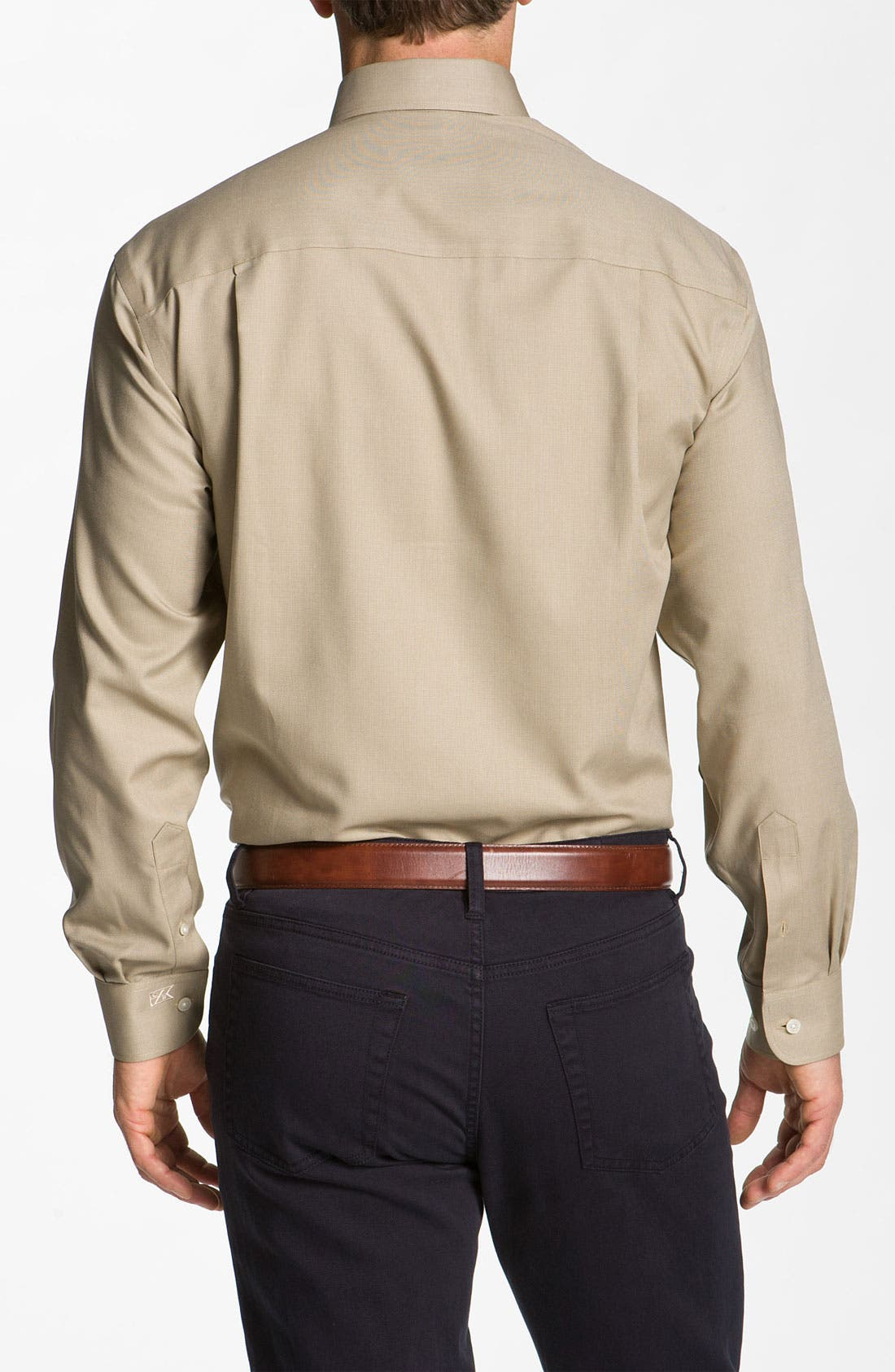 Alternate Image 2  - Cutter & Buck 'Nailshead - Epic Easy Care' Classic Fit Sport Shirt (Big & Tall)
