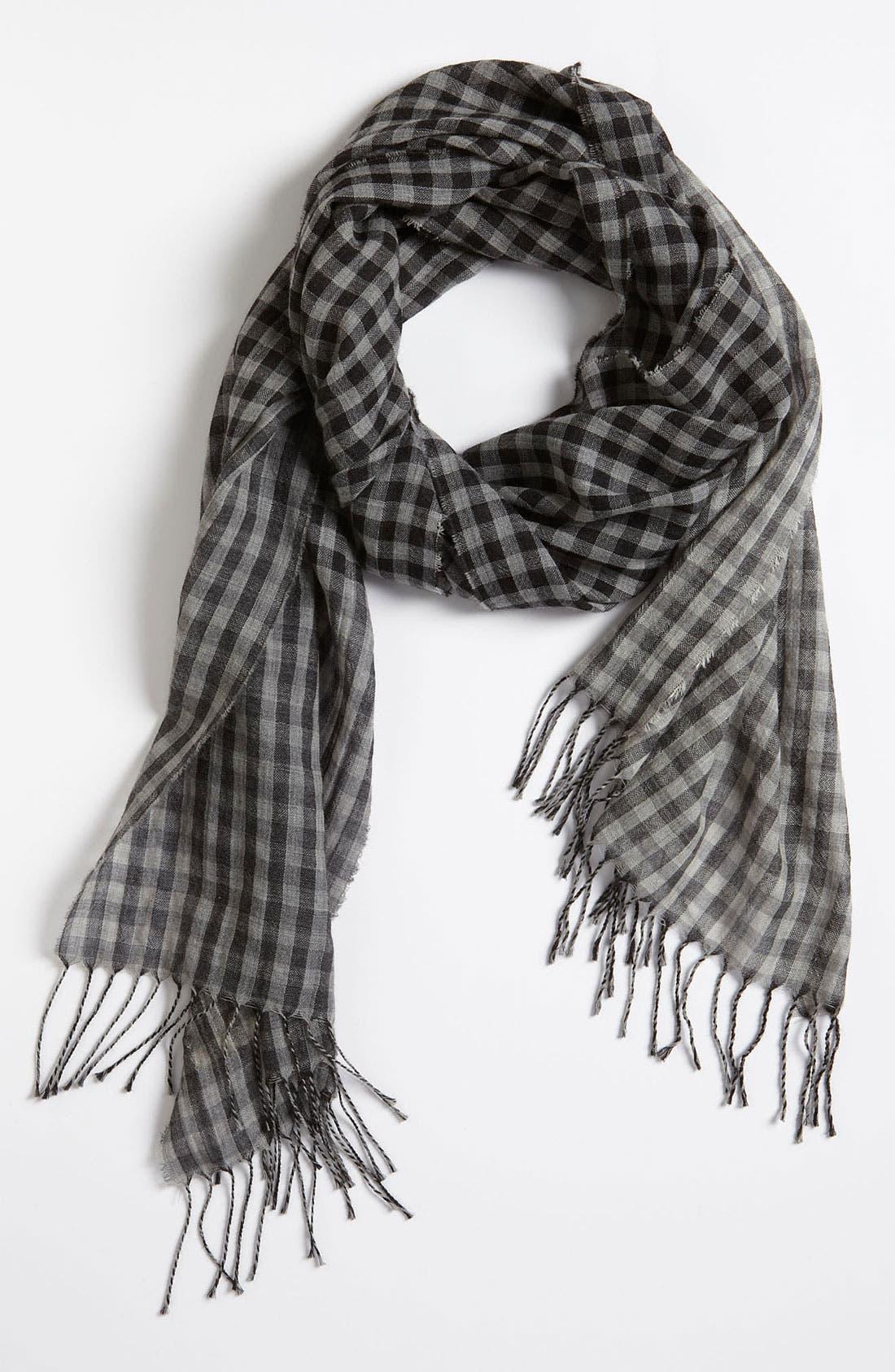 Main Image - rag & bone 'Double Check' Wool Scarf